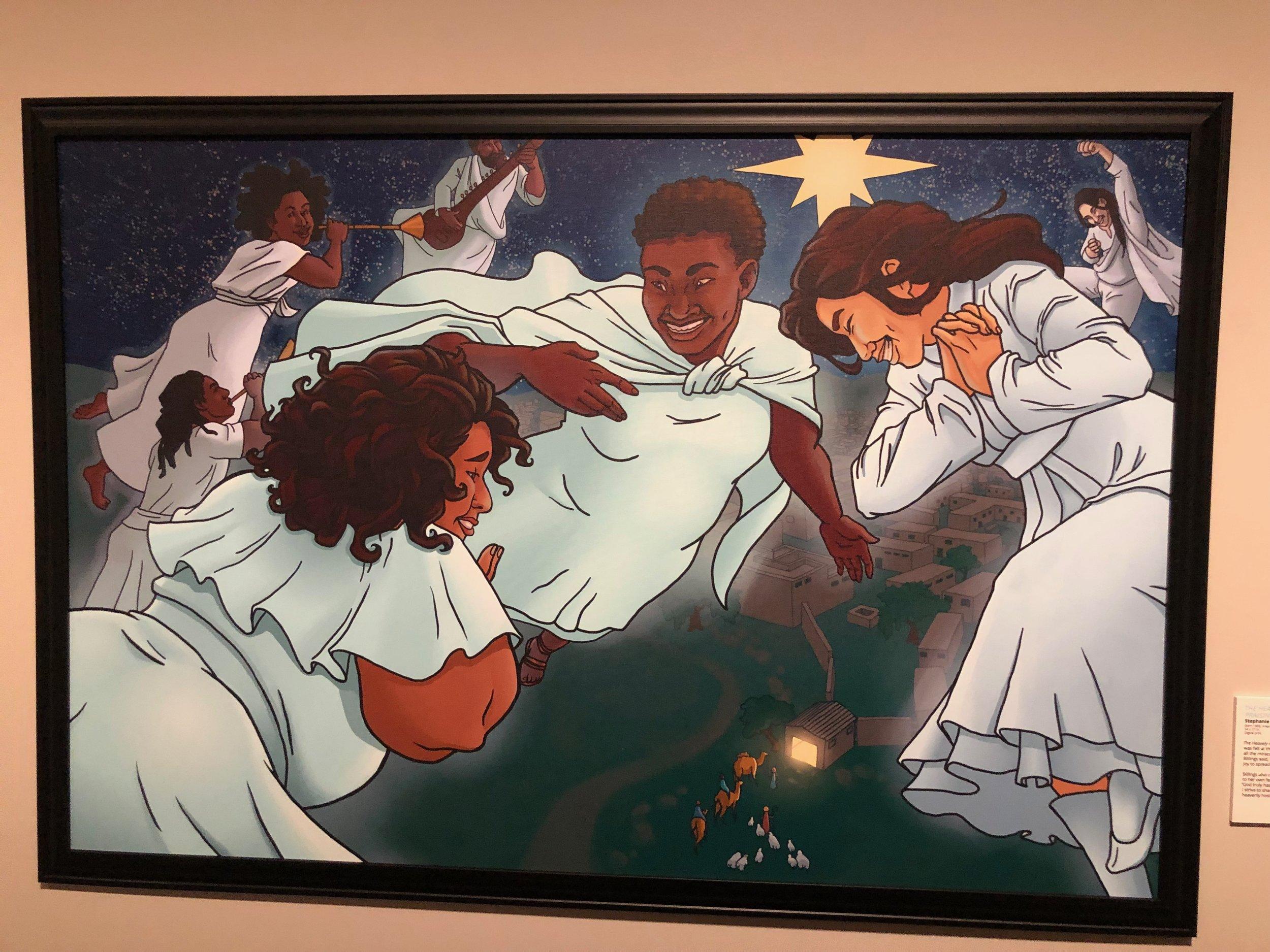 The Heavenly Host Praising God  by Stephanie Billings. Digital print.