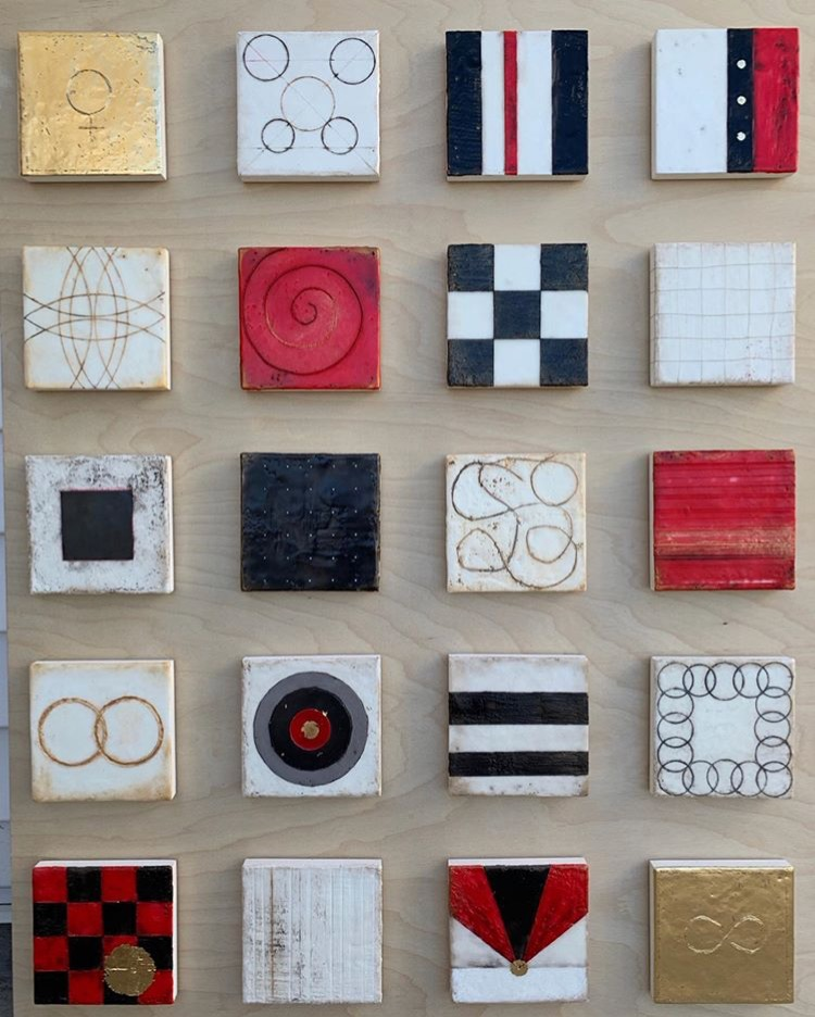 "Shari Lyon. ""Io Sono"" Encaustic 48 x 72 in. Courtesy of the Certain Women Art Show."