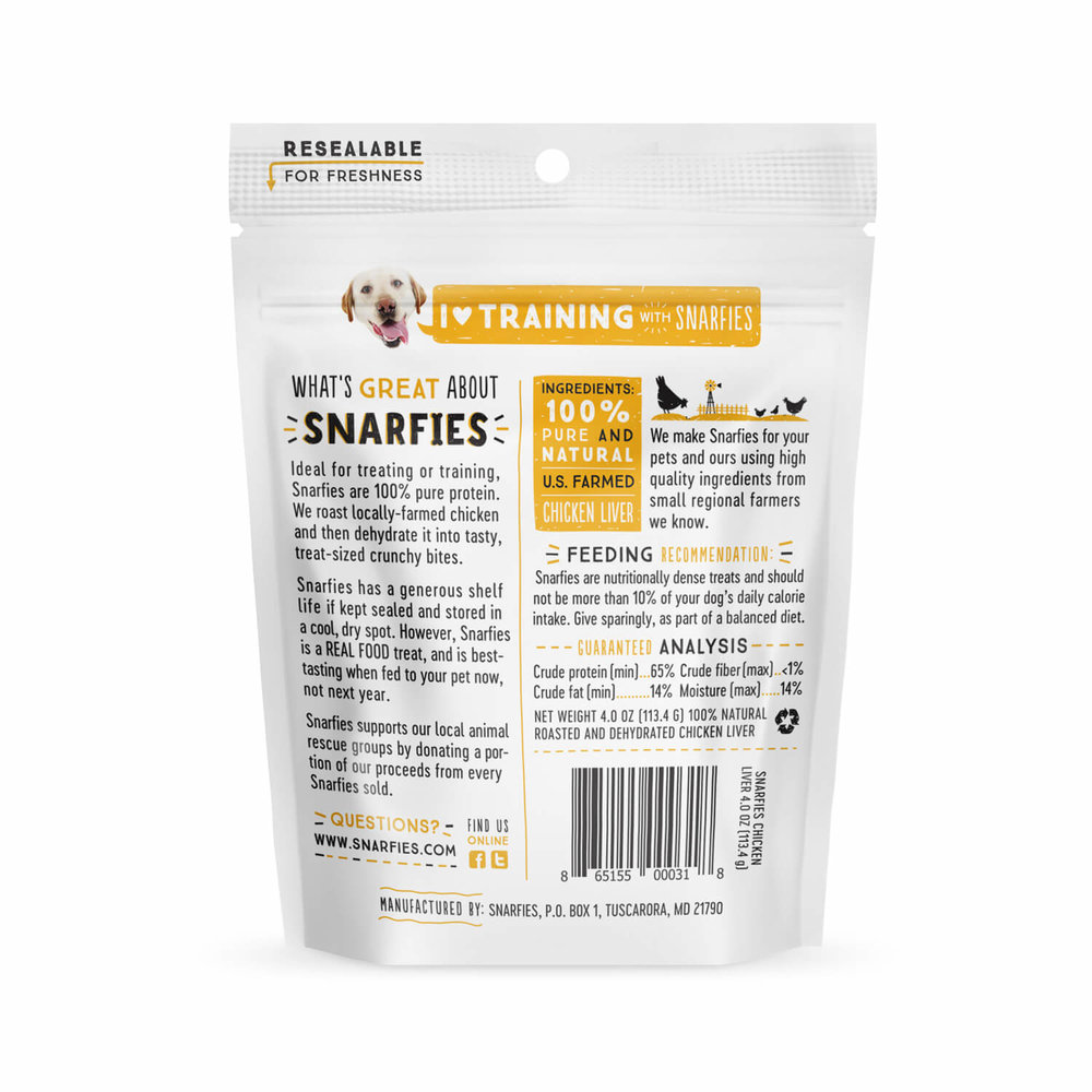 Snarfies Chicken Liver Dog Treats 4 0 Oz Snarfies