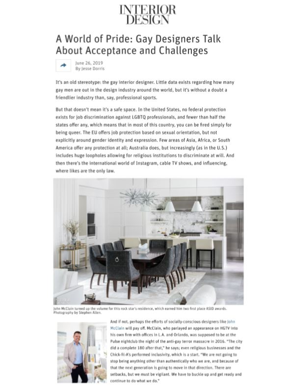 John McClain Interior Design Magazine
