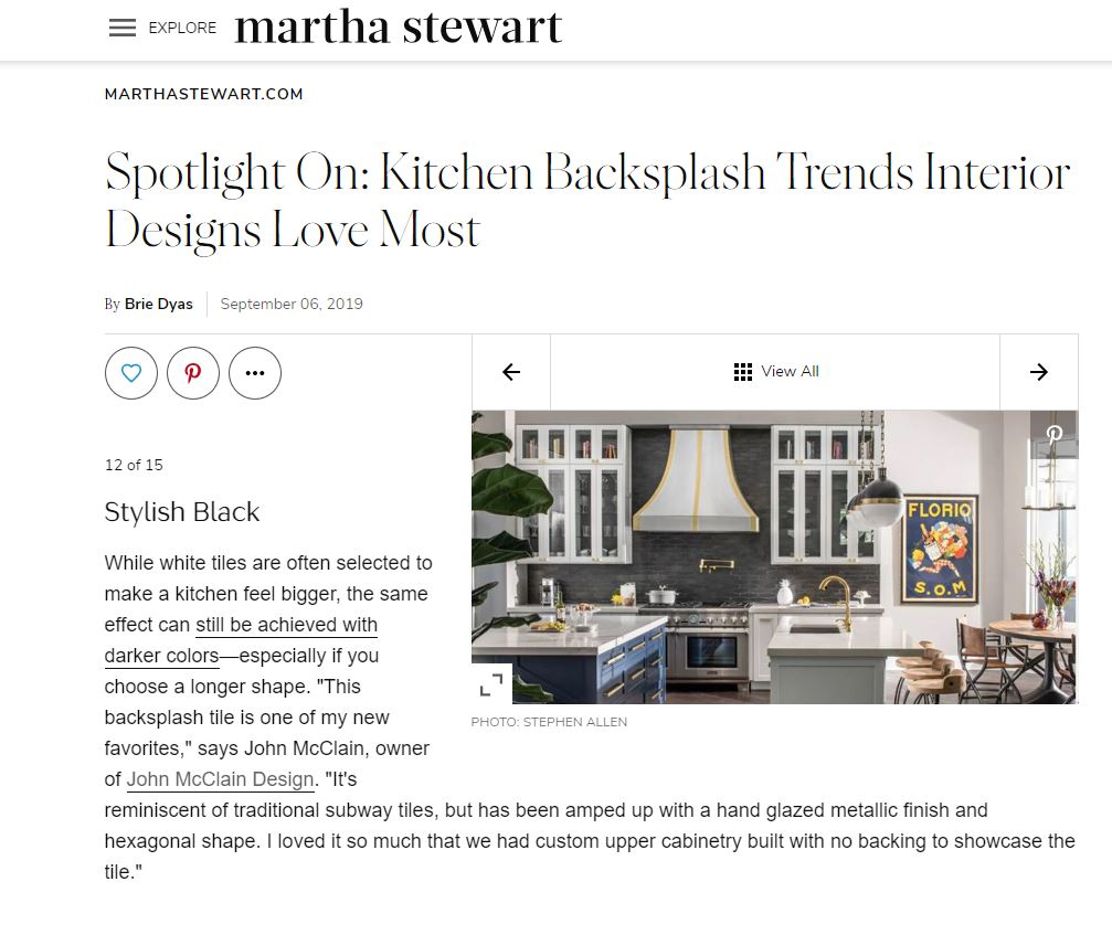 John McClain in Martha Stewart Living