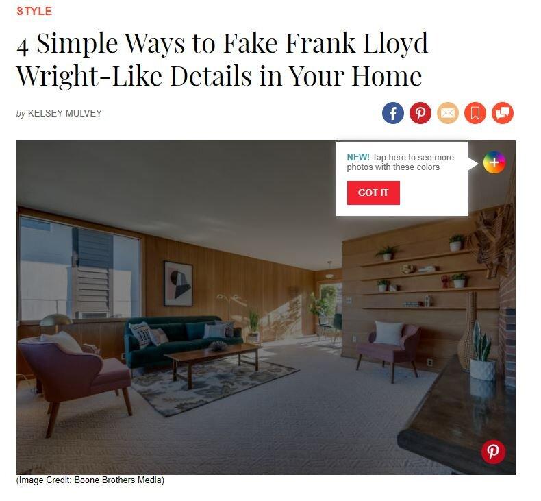 John McClain in Apartment Therapy: Frank Lloyd Wright