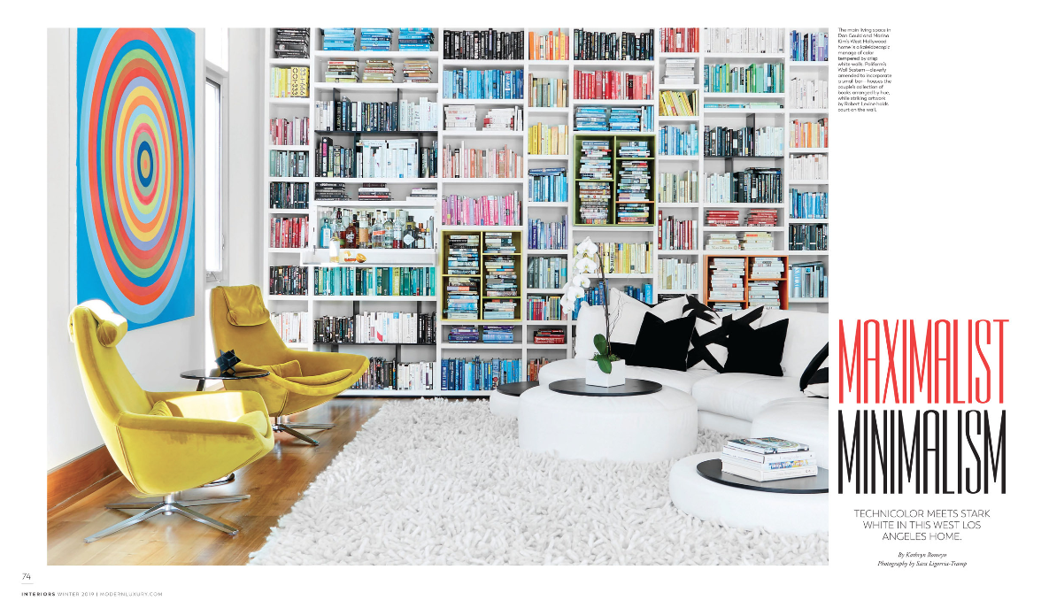 Modern Luxury Interiors - Kerry Vasquez Design makes the cover of the Winter 2019 Best of Design Issue over at Modern Luxury Interiors California with our Maximalist Minimalism Project.