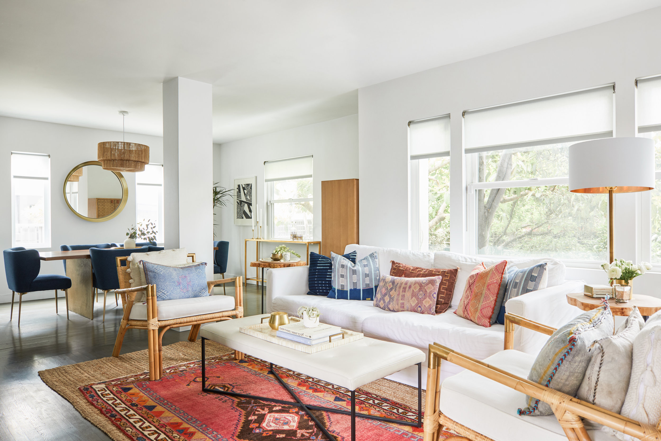 Hunker Home - Middle Eastern maximalism meets California minimalism in this bohemian Venice home.  Online design destination Hunker takes a tour with Kerry Vasquez of our Beachy Bohemian project.