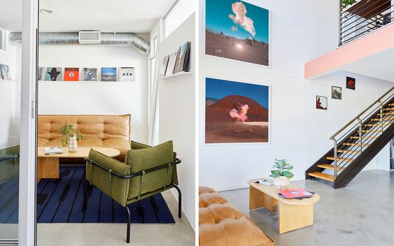Homepolish - Get into the groove of this LA Record Company's digs. Designer Kerry Vasquez helps a London-based record label create their Los Angeles office worthy of their California digs and cool clientele.