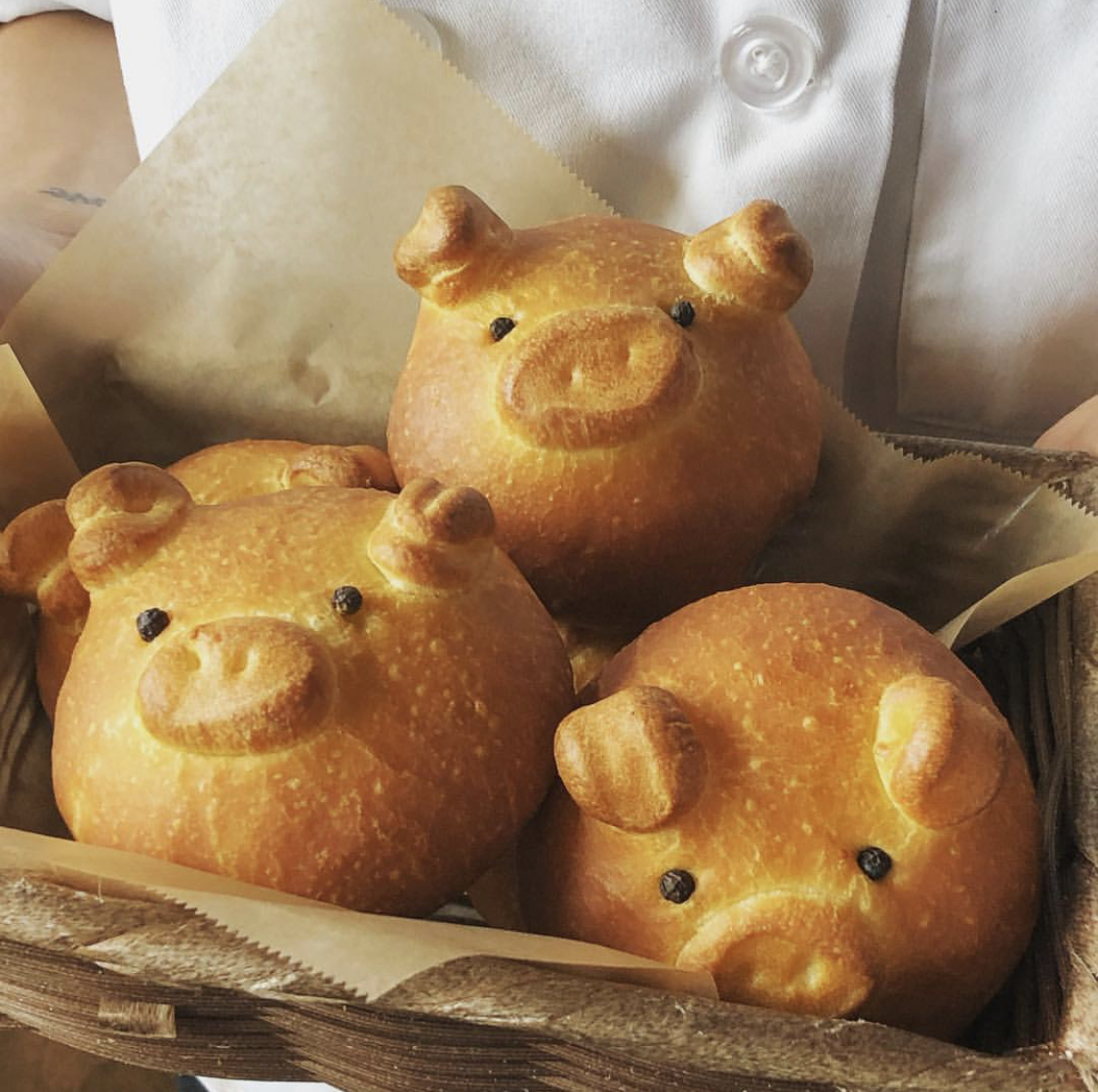 Happy year of the pig. Image: @fujibakery