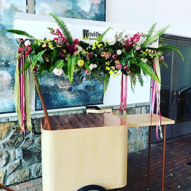 Love a good drink cart!!! For @stjude thanks @ketelone @grandbohemianmountainbrook  #ourclientsareawesome #differentisgood #stjudehospital #stjudehospitalforchildren #offbeatblooms