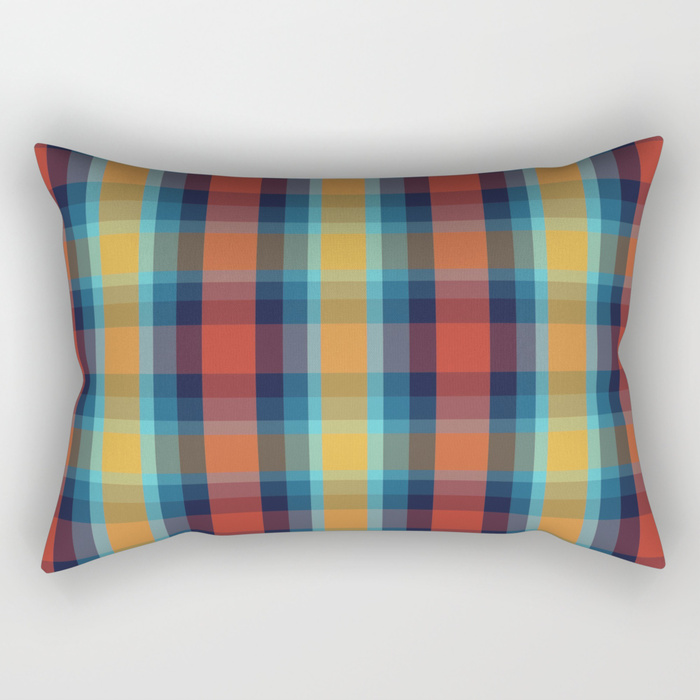 Plaid Rectangular Pillow