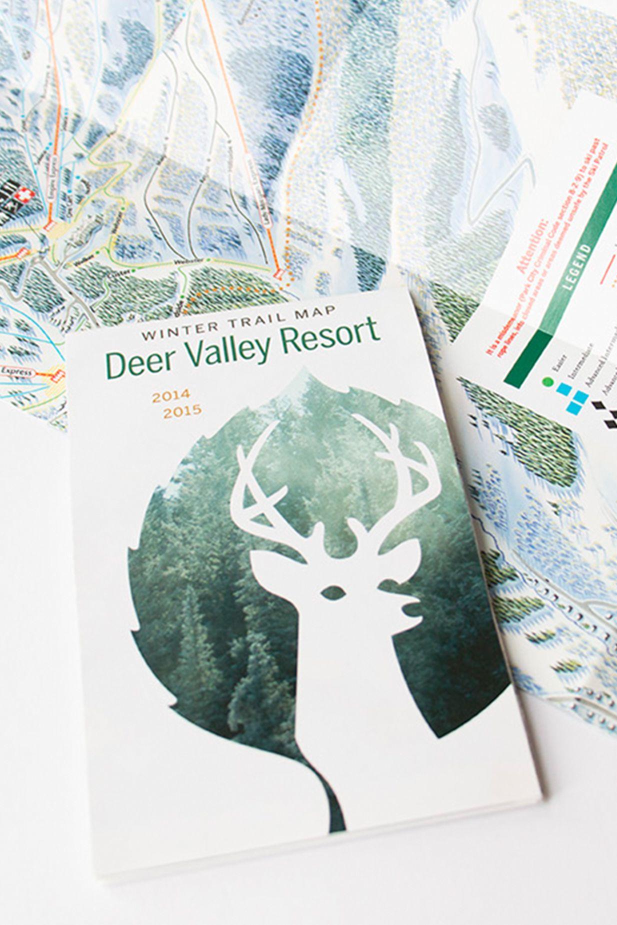 2014/15 Winter Trail Map for Deer Valley Resort