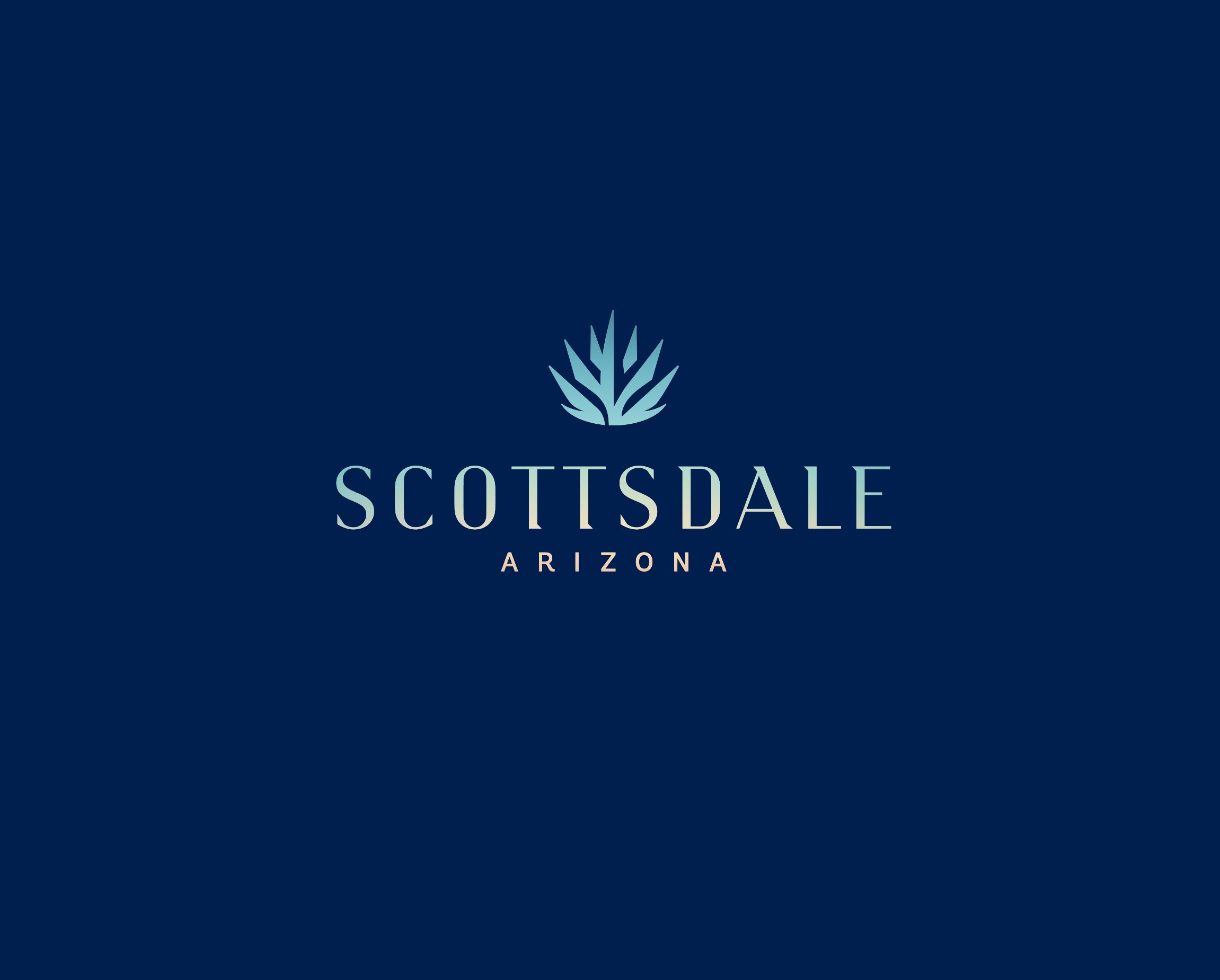 Scottsdale Logo - blue background