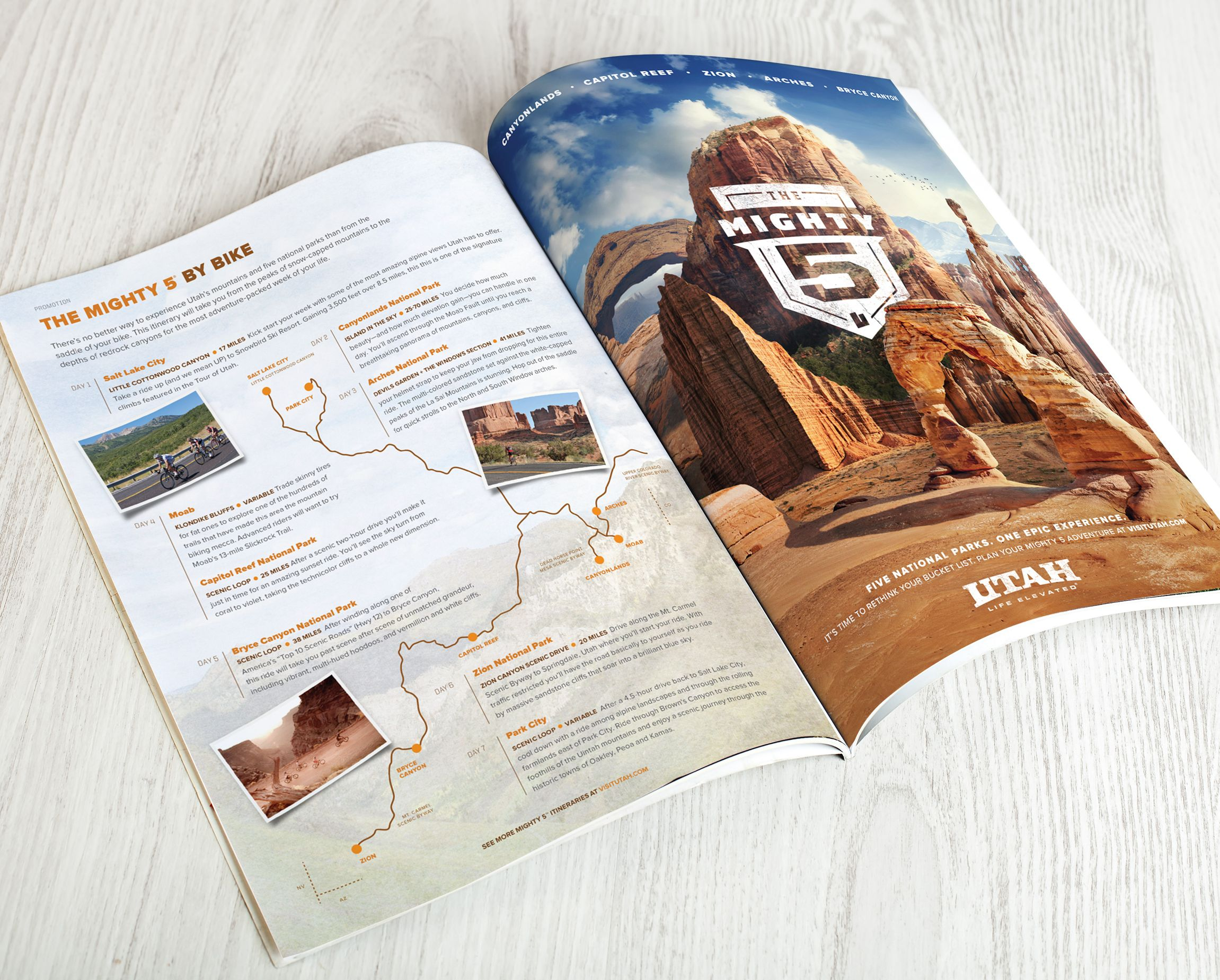 A magazine ad for Utah Office of Tourism by Struck