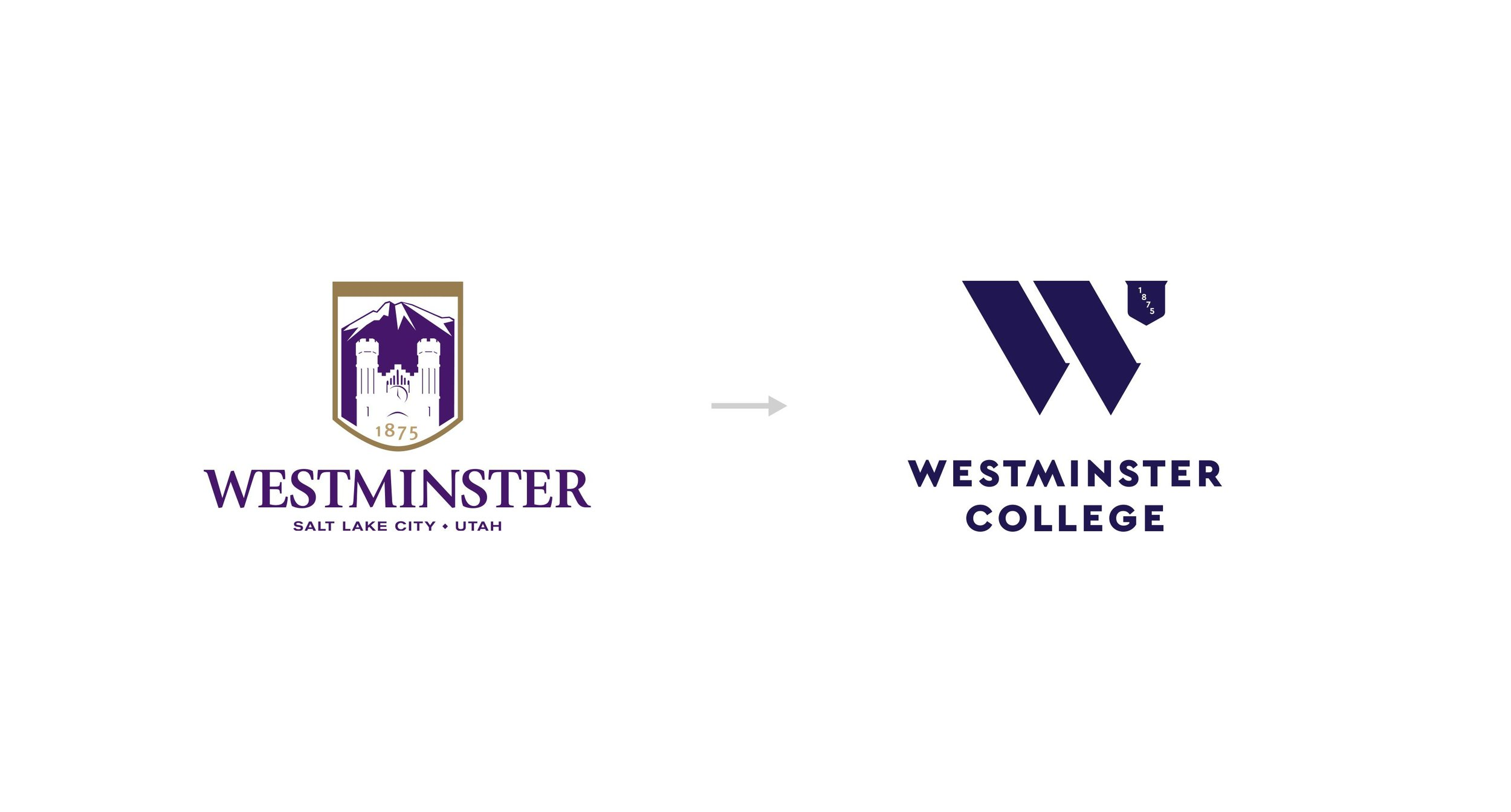 The Old Westminster College Logo and the New Westminster College Logo.
