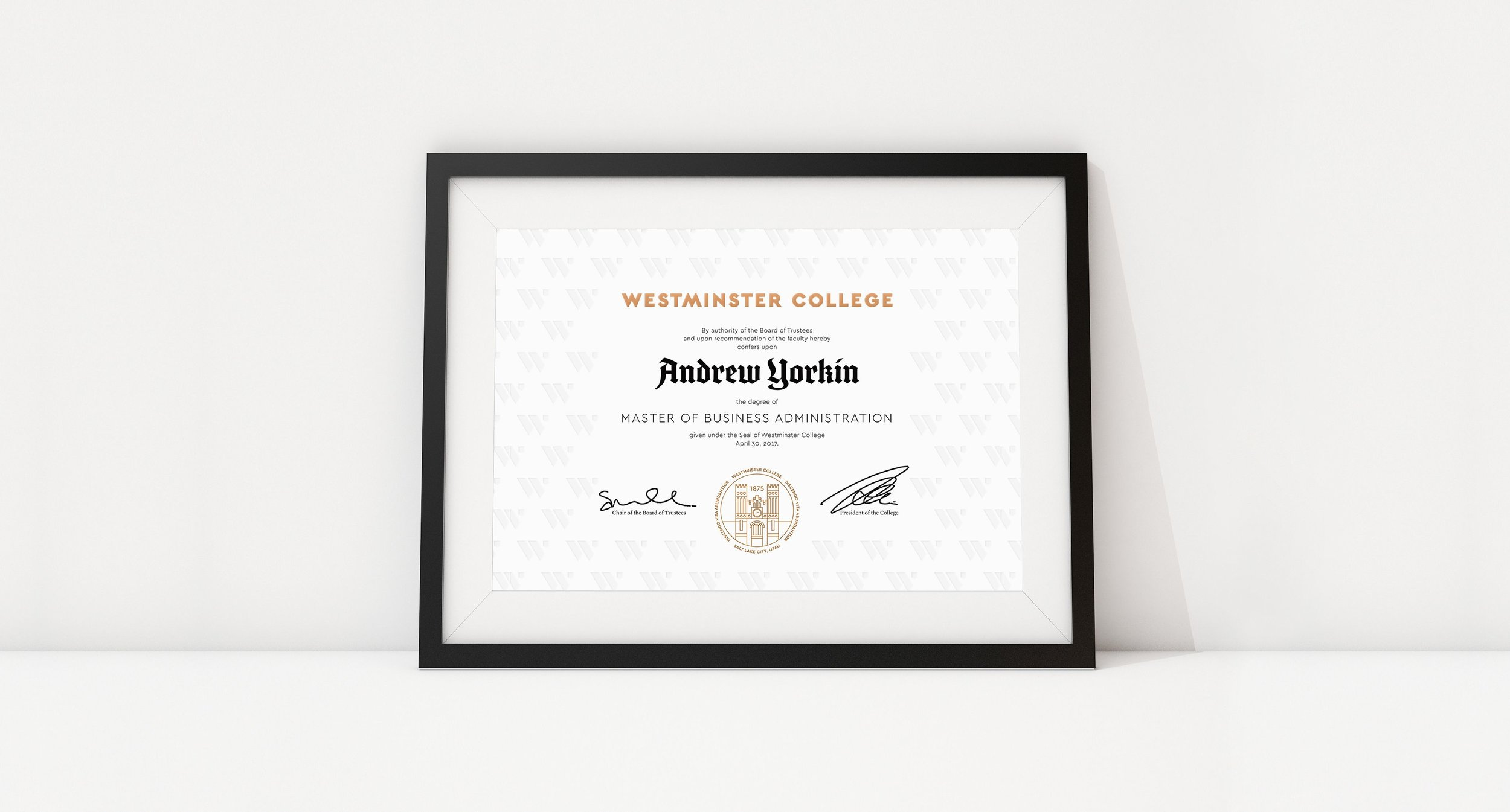 Westminster College Diploma