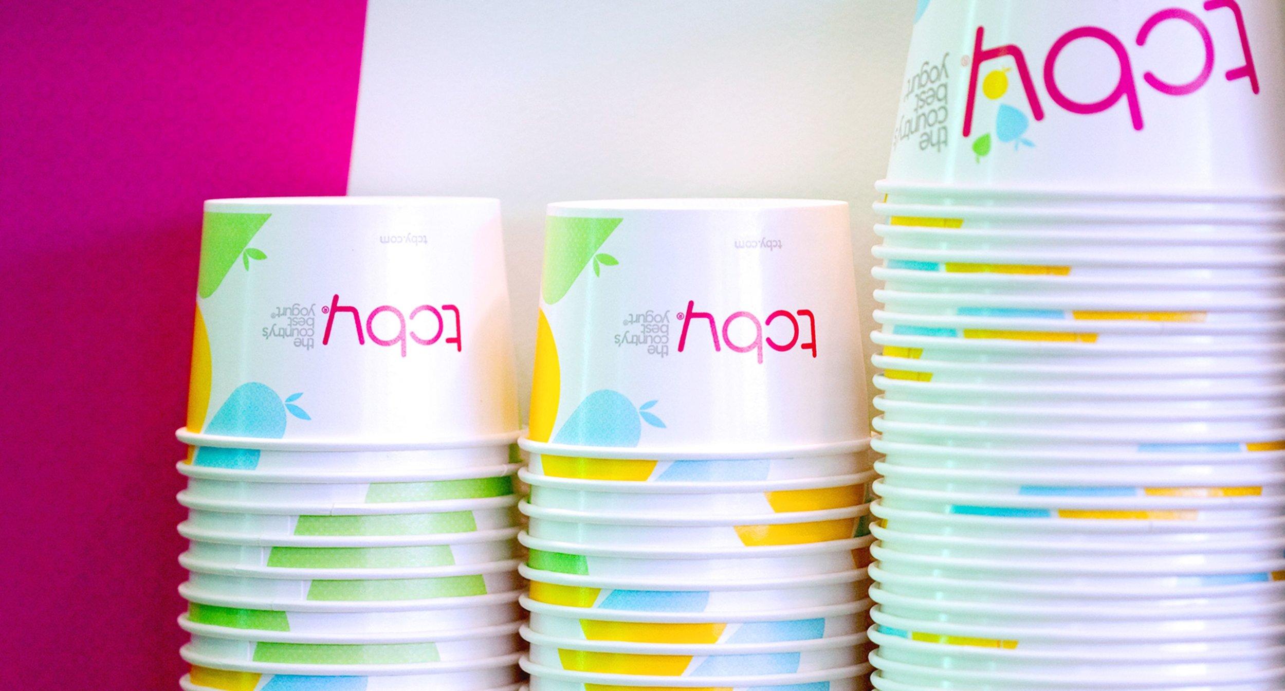 TCBY Yogurt Cups
