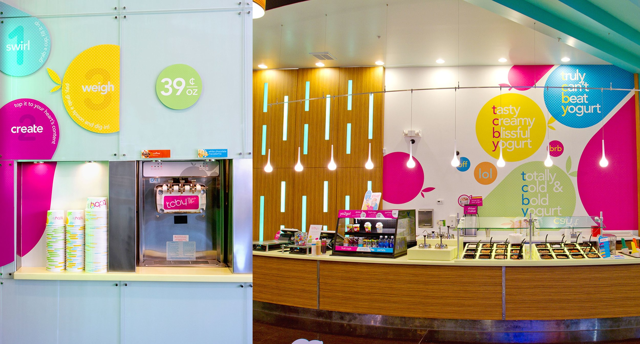 TCBY Yogurt and Toppings Stations