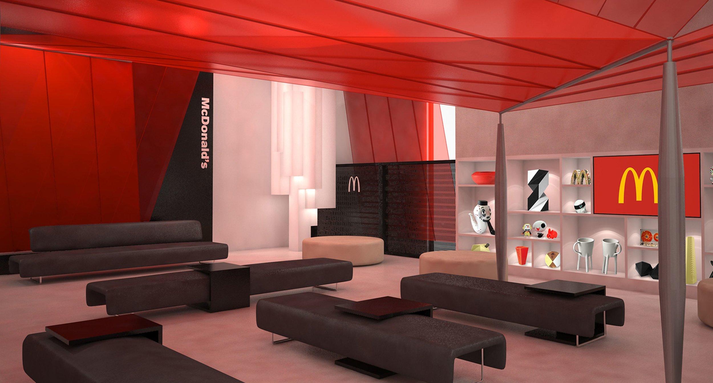 Rendering of McDonald's SXSW Lounge
