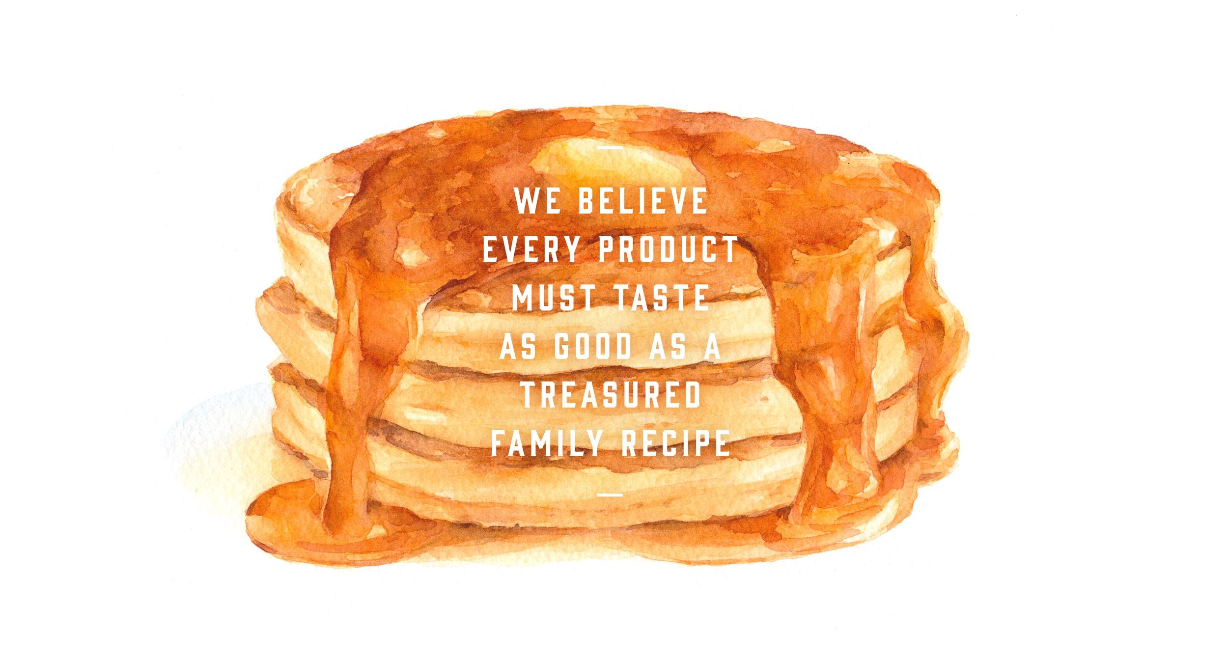 We Believe quote and pancake stack