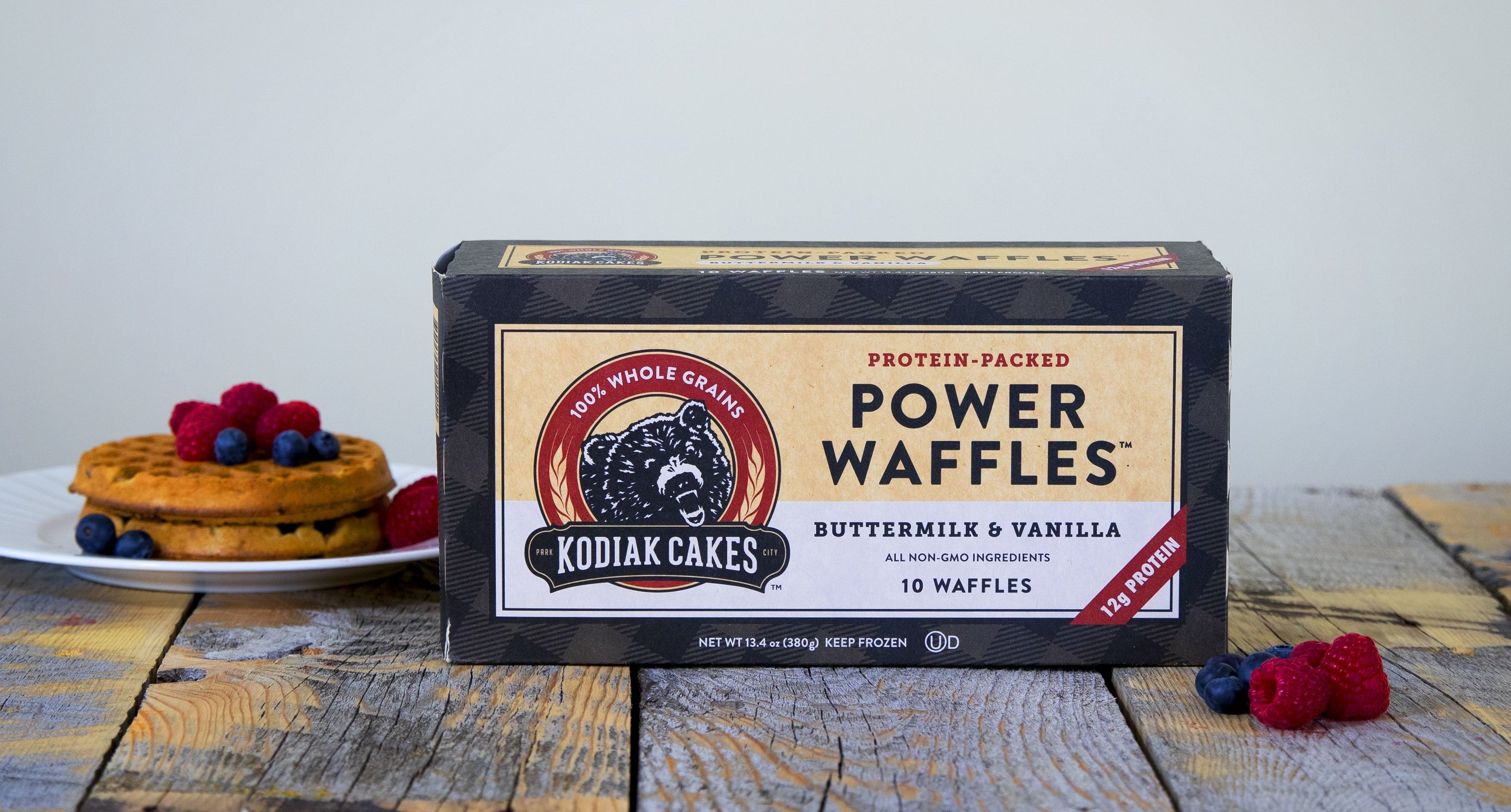 Photo of Power Waffles Packaging and Product