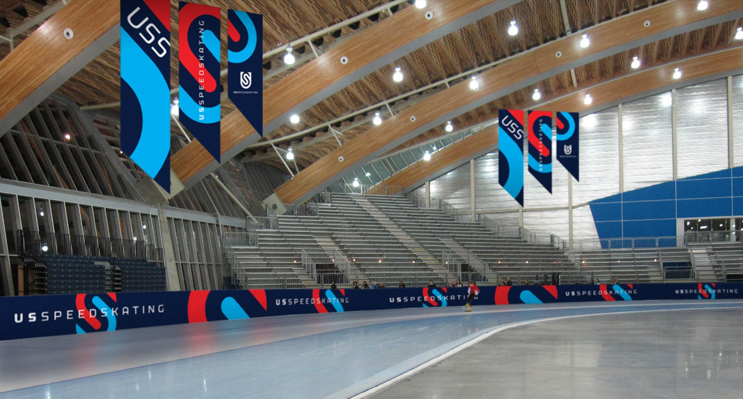 U.S. Speedskating Banners and Track