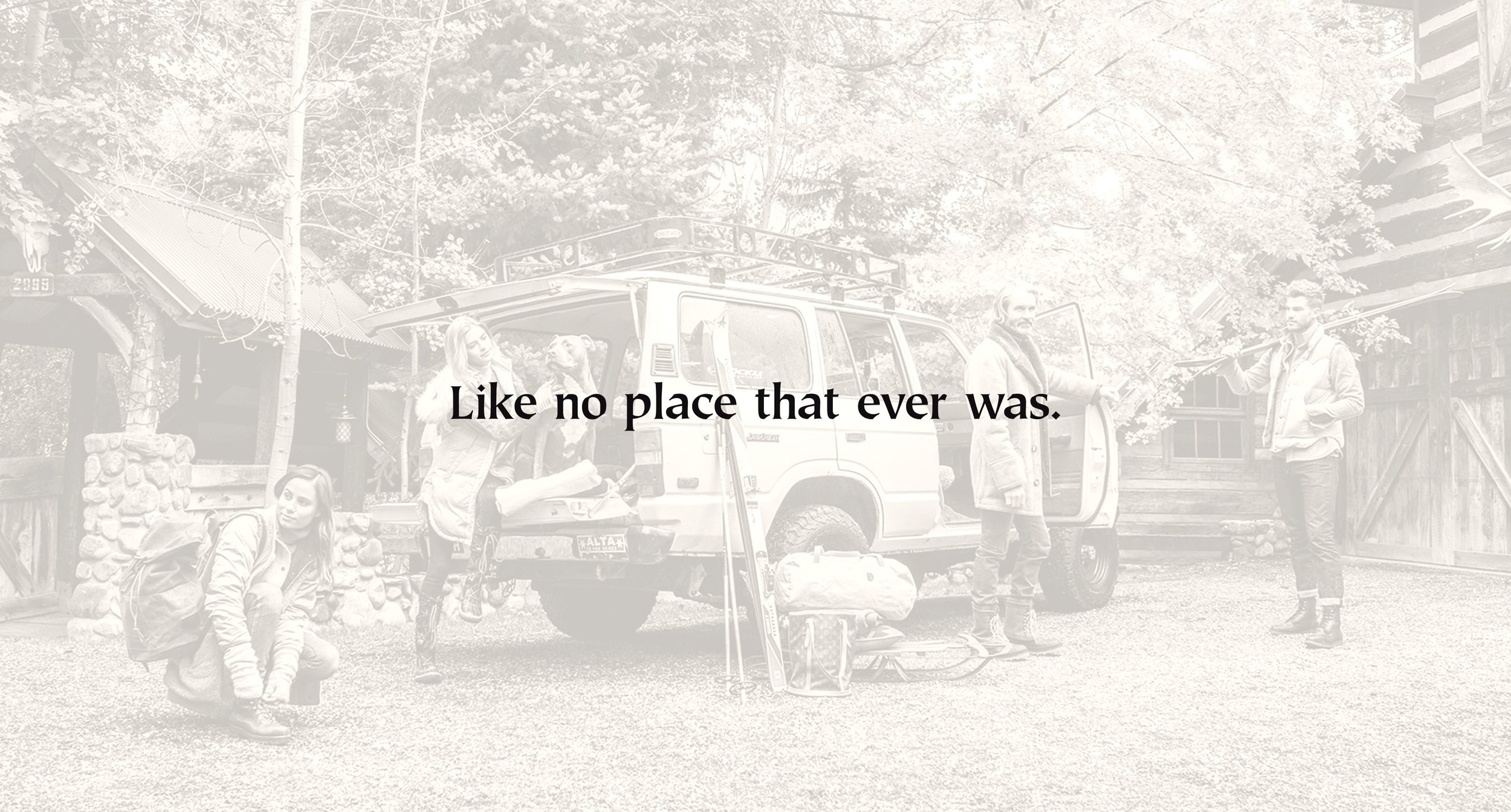 Like no place that ever was - sepia photo advertisement