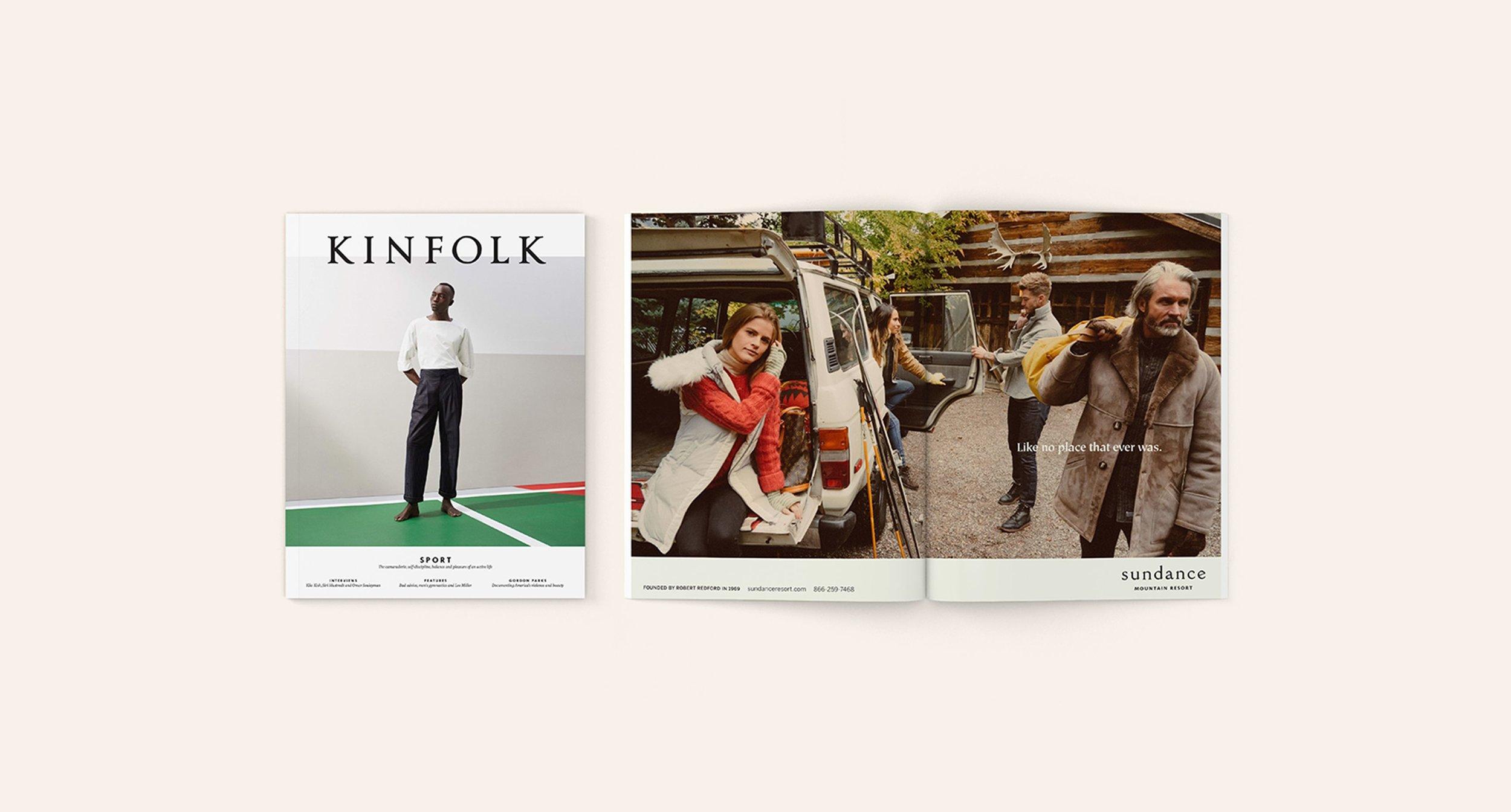 Cover of Kinfolk and Sundance Advertisement