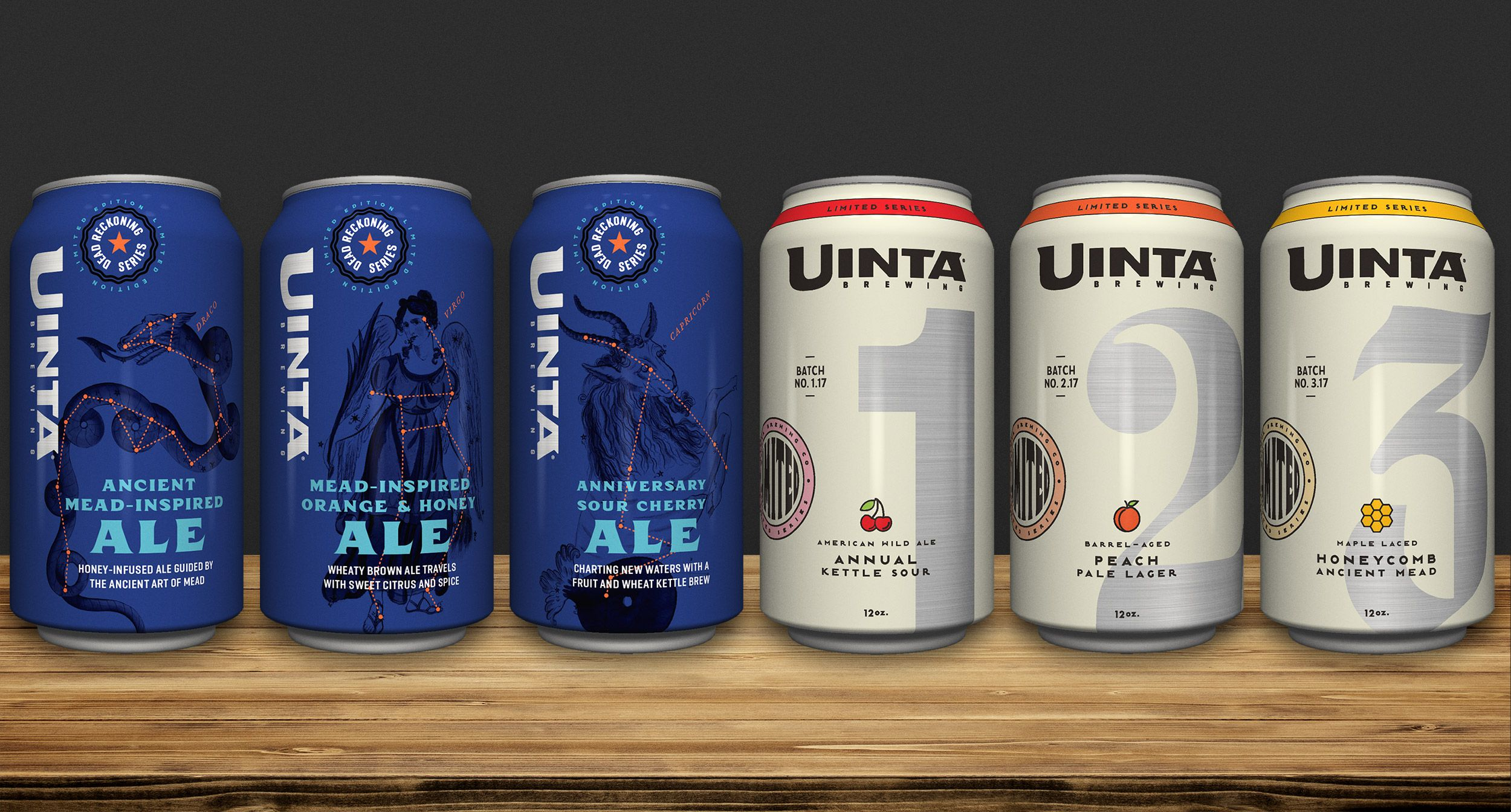 Artboard for two themed series beers package designs