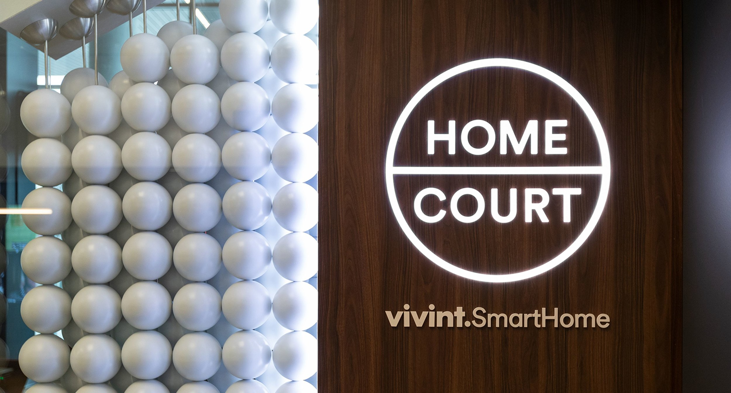 Close up of Home Court Entrance Art and Logo