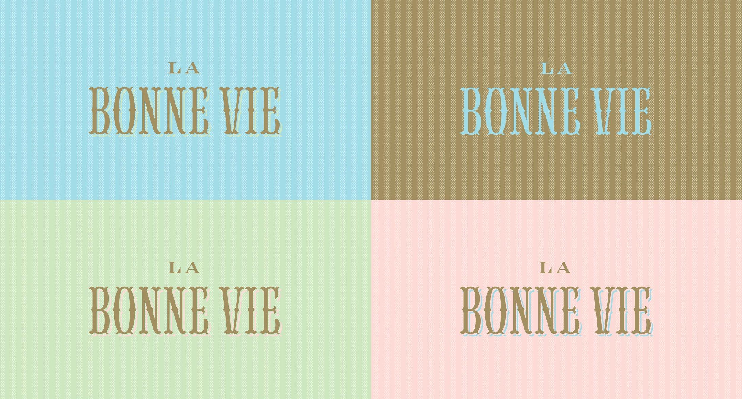 Four colored La Bonne Vie Logos