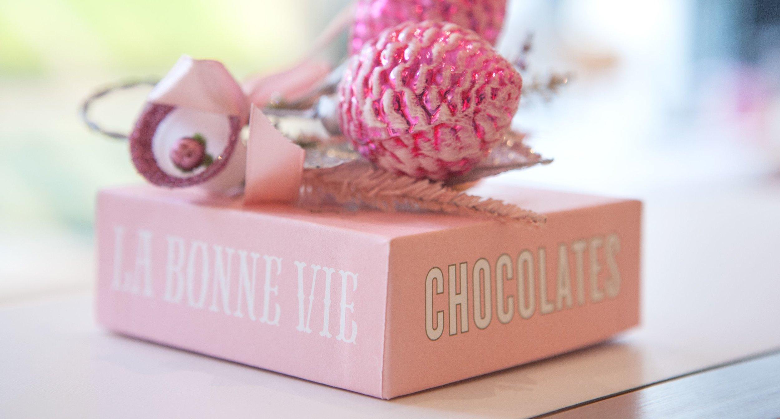 Pink Pine Cone Chocolate Box