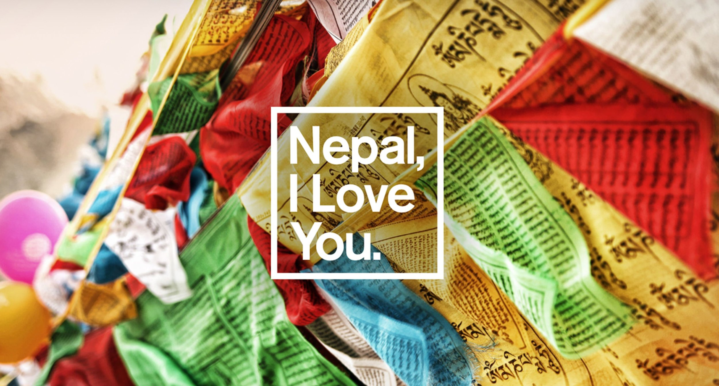 Nepal Logo with Flags