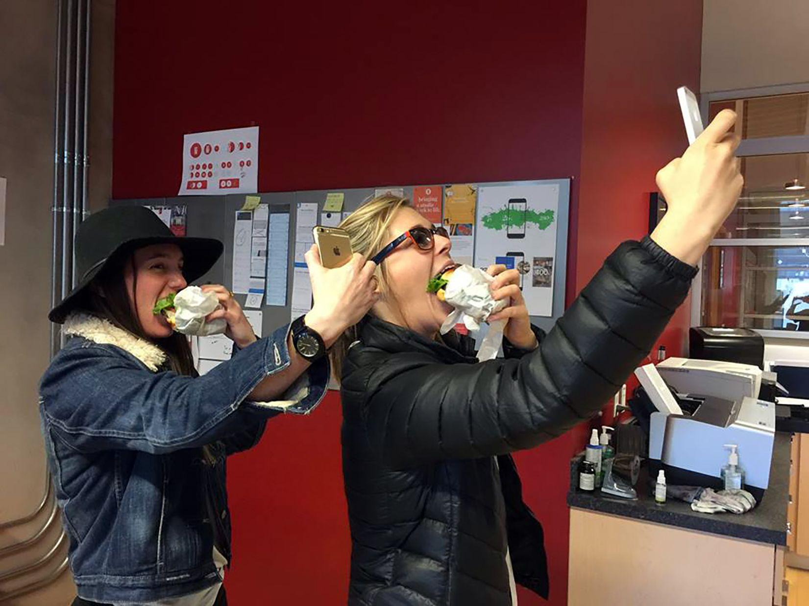 JITB Burger Selfies