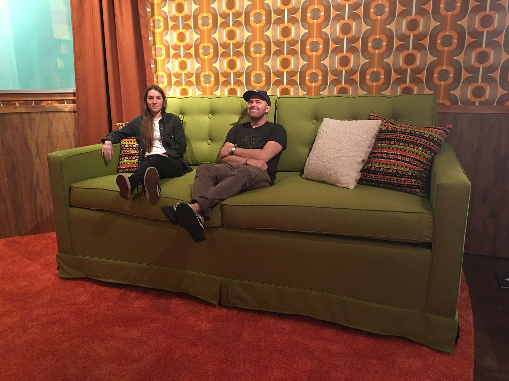 Essie and Michael on Oversized Couch
