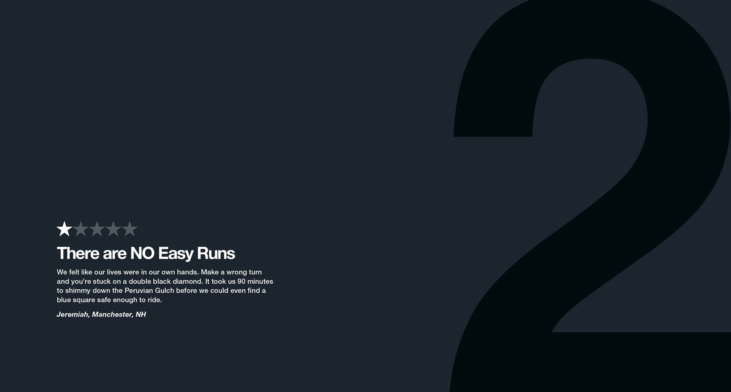 There are NO Easy Runs was the second review in the One-Star Review campaign