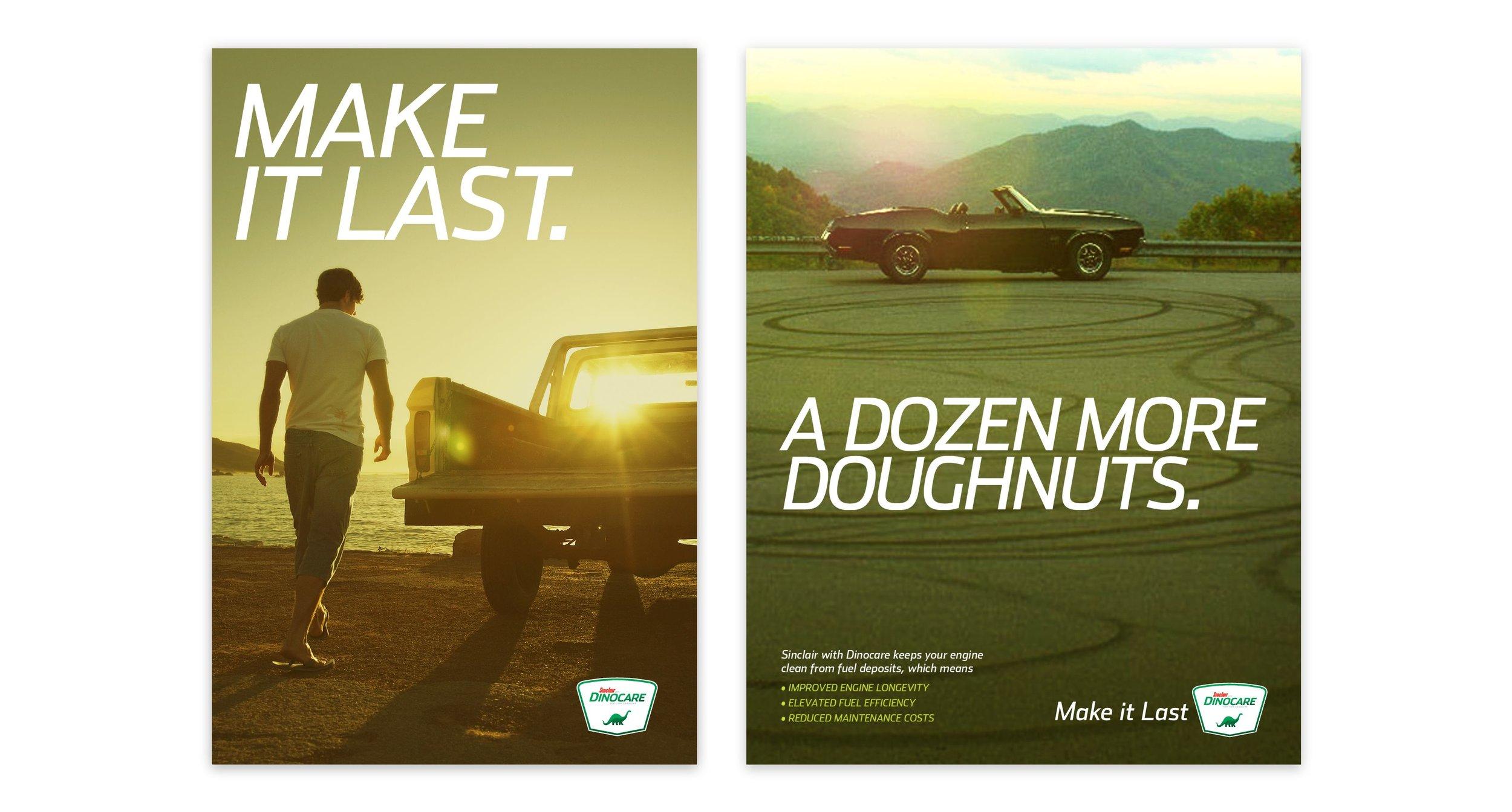 Make it Last & A Dozen More Doughnuts Advertisements