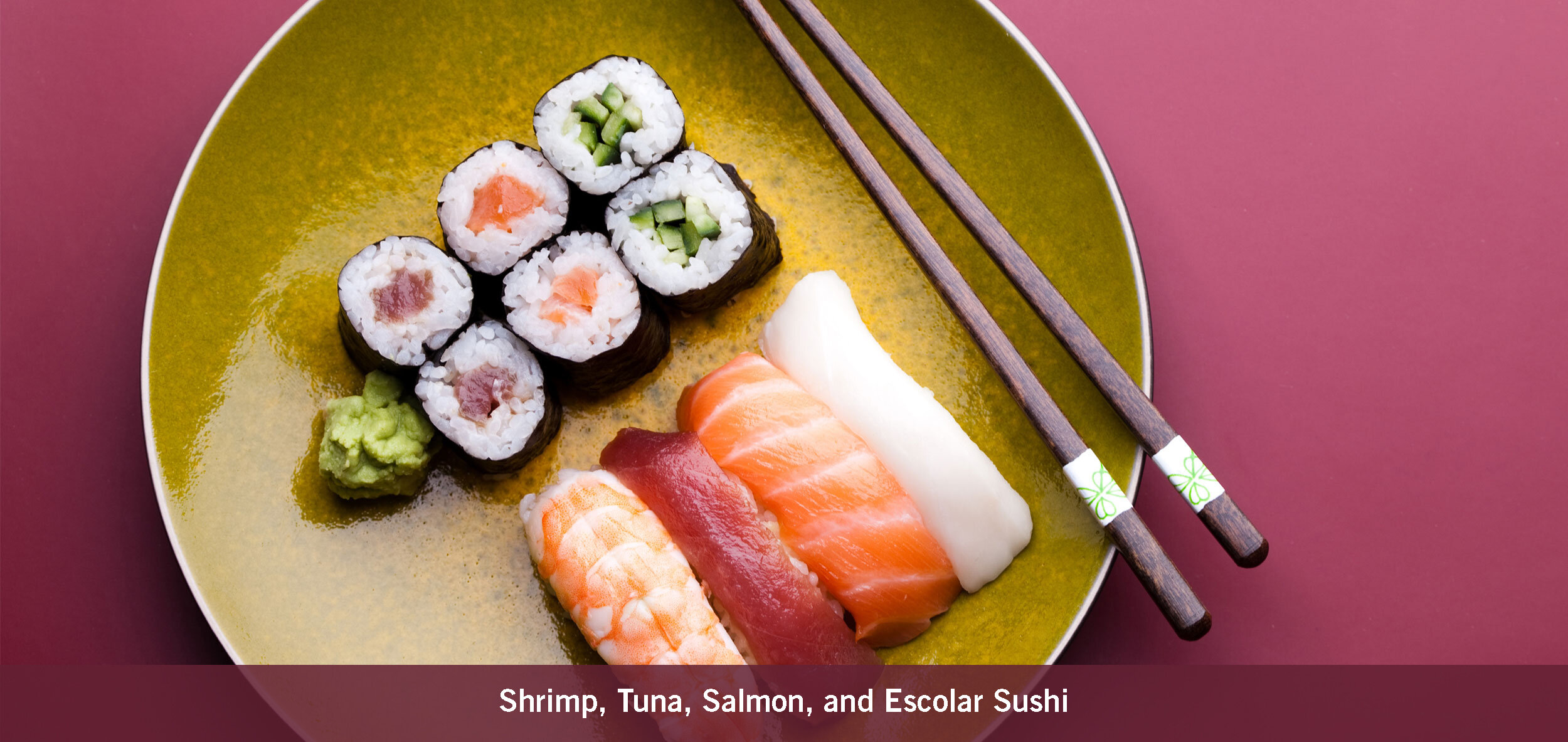 Shrimp, Tuna, Salmon, and Escolar Sushi
