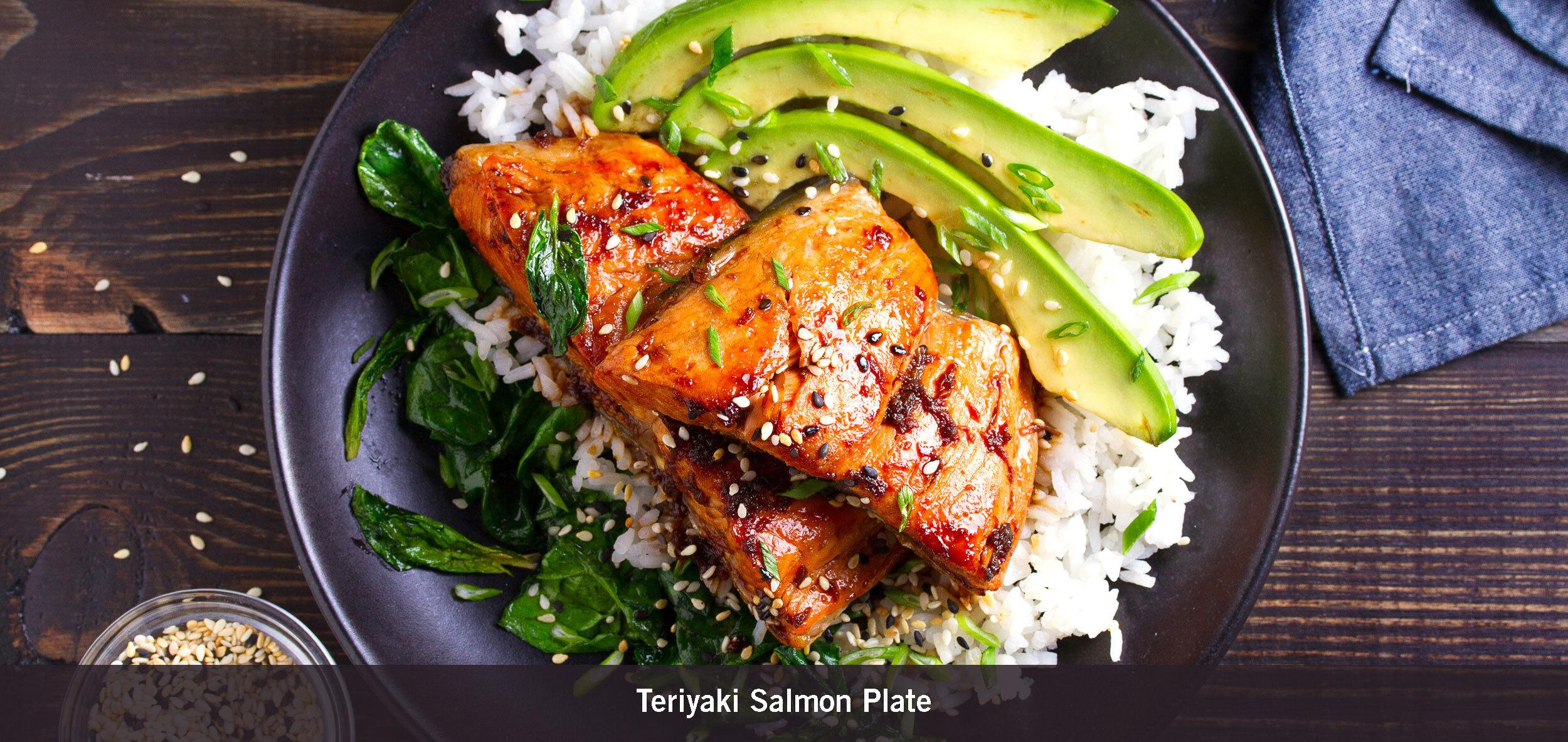 Teriyaki Salmon Plate