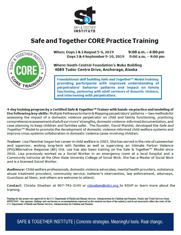 Safe and Together CORE Training Flyer