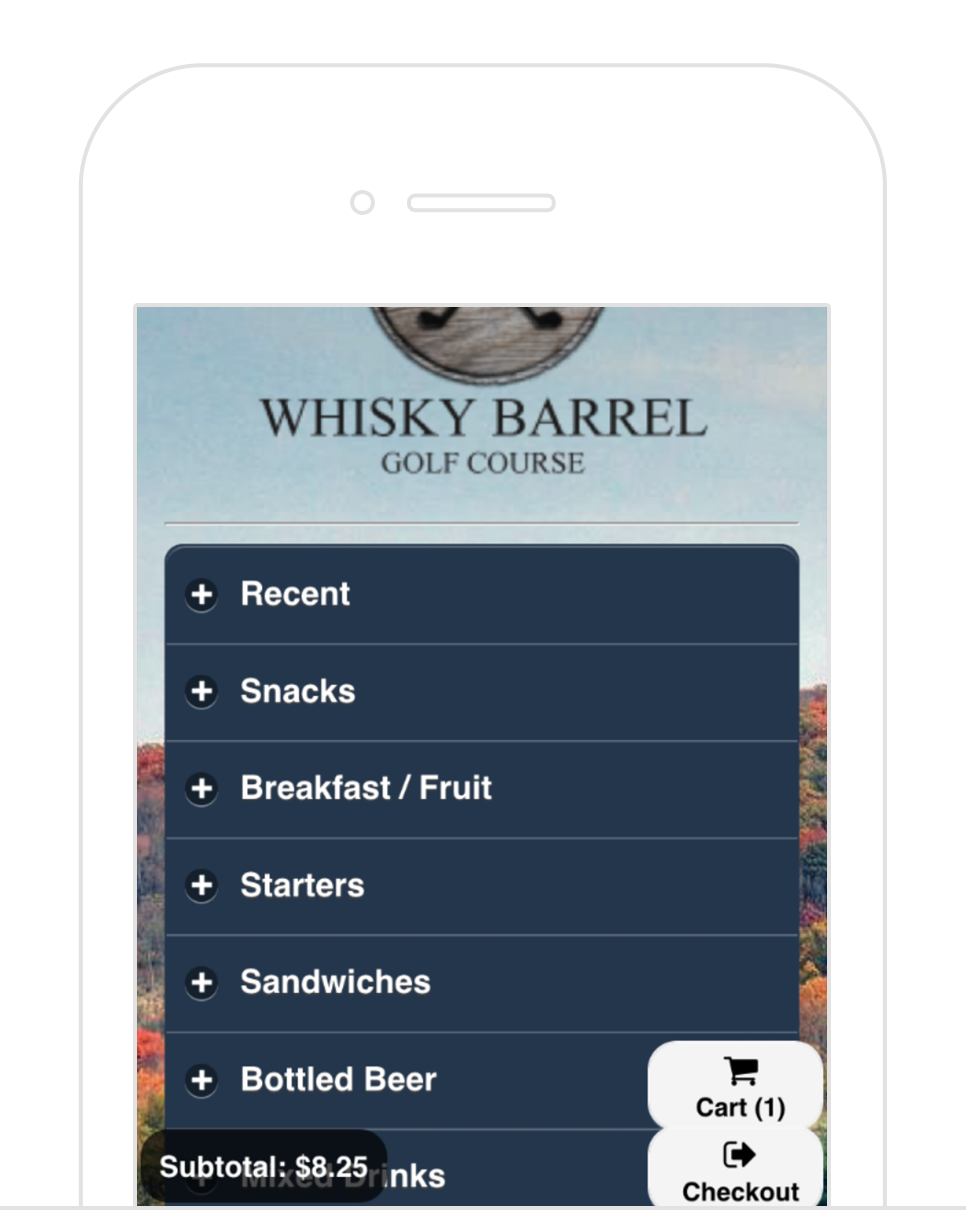 Customizable Menus - Curated menus and a simple interface for easy in-app ordering.