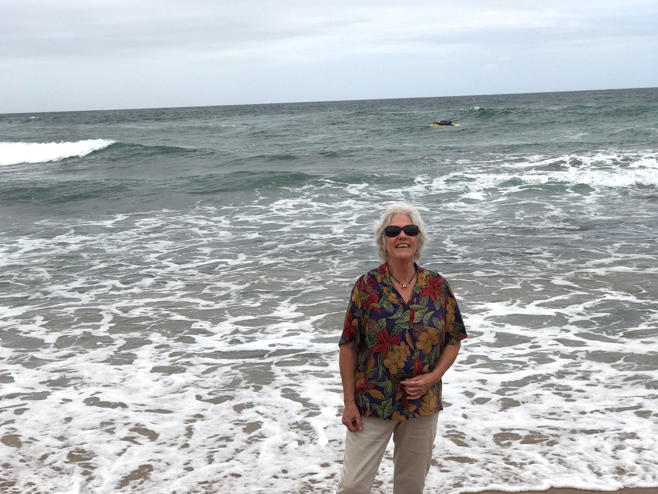 Loving the beach in Kwa Zulu Natal