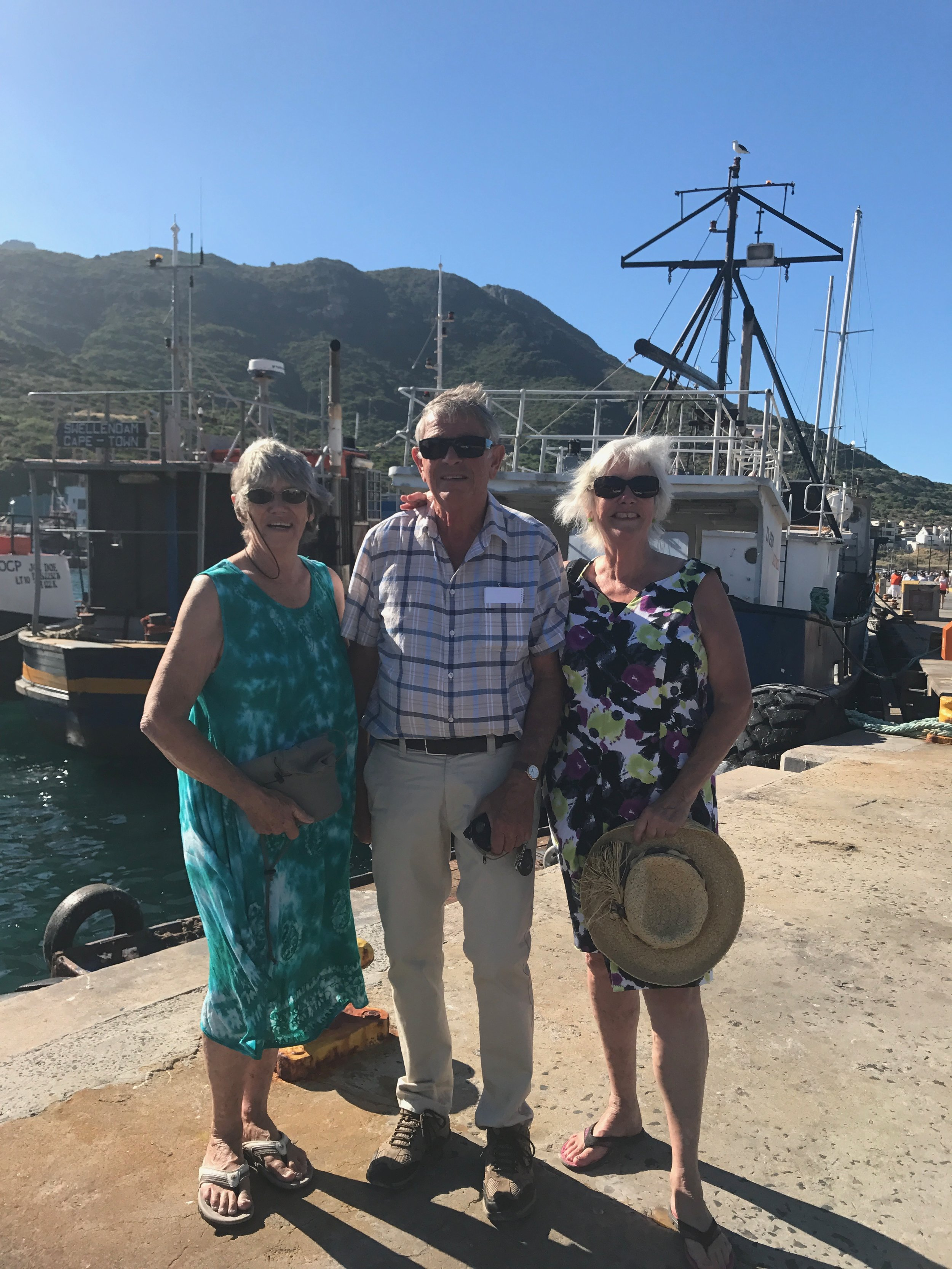 Zoze, Biff and me at Hout Bay, Cape