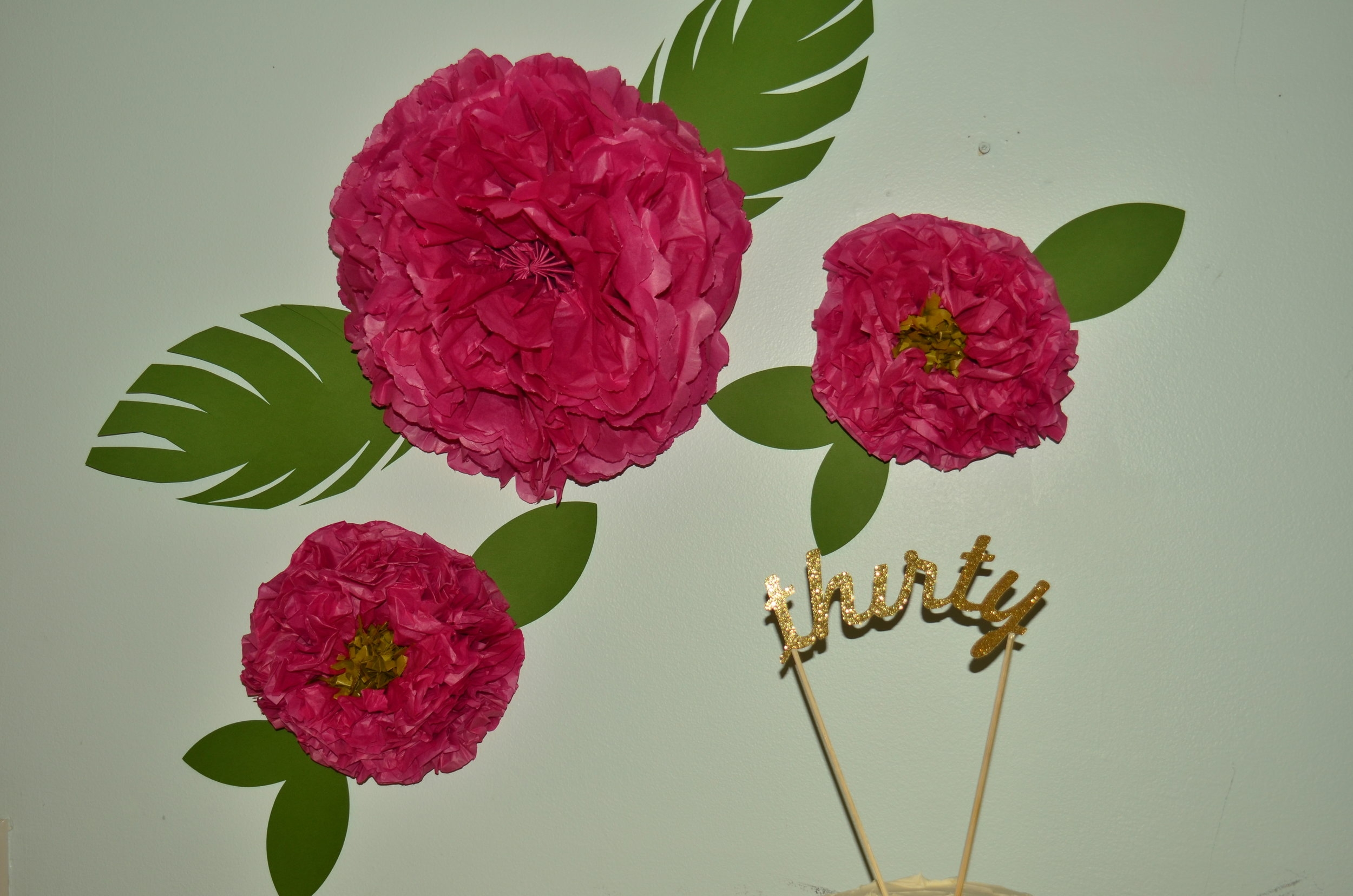 I cannot tell you how much I love tissue paper... these flowers are super easy to make and so pretty!