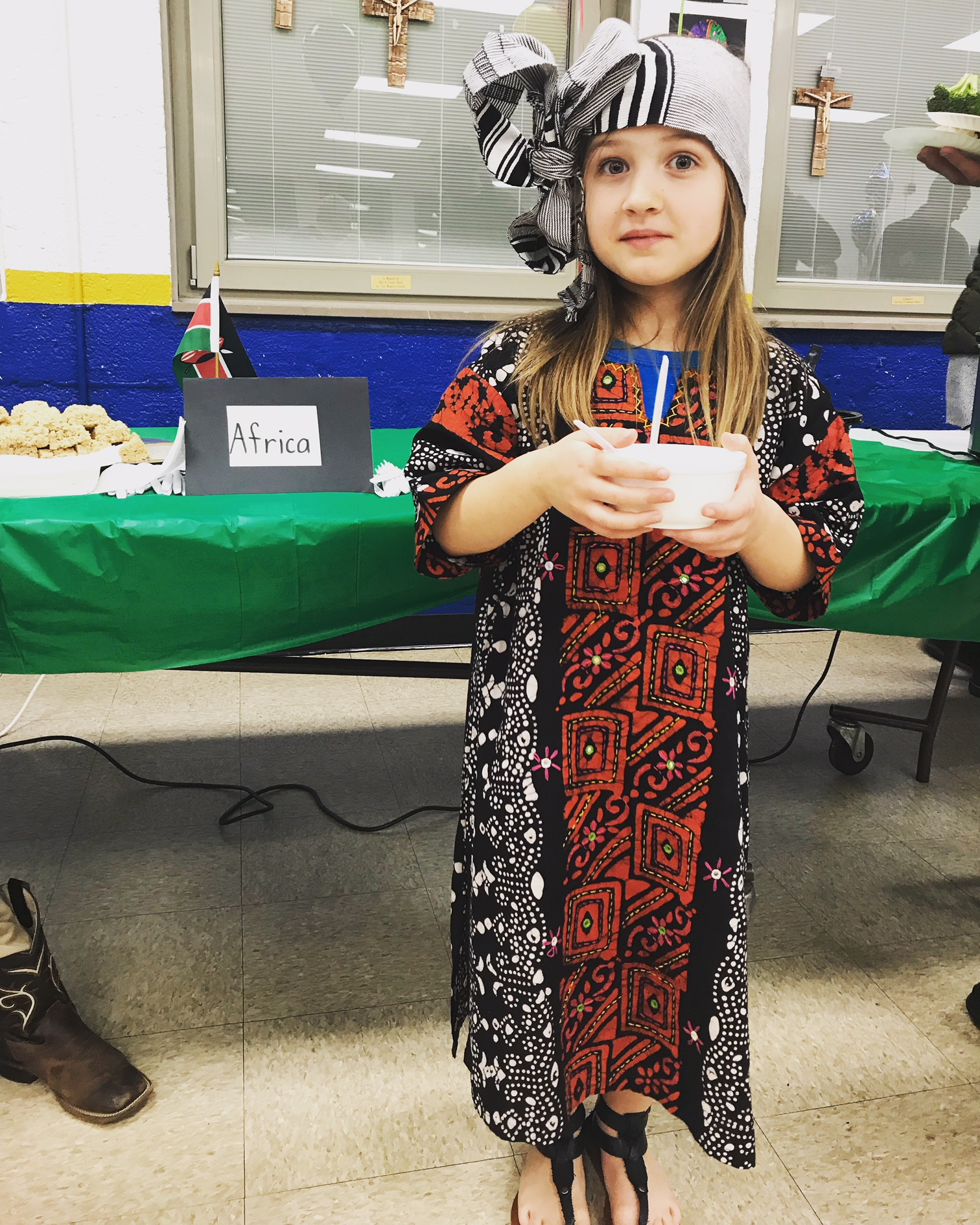 Emma as a little girl from Kenya. She chose Africa because her uncle is from Liberia.