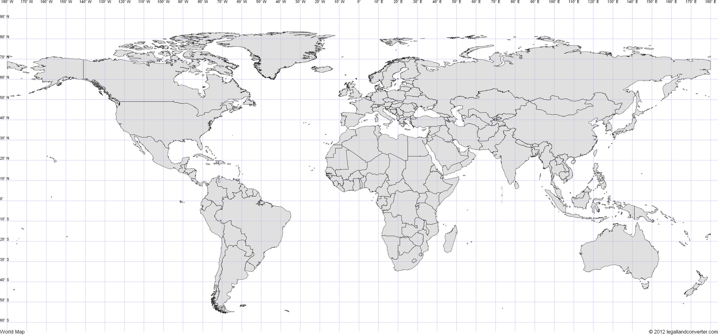 Map without any projection. Source: http://www.legallandconverter.com/images/world.jpg