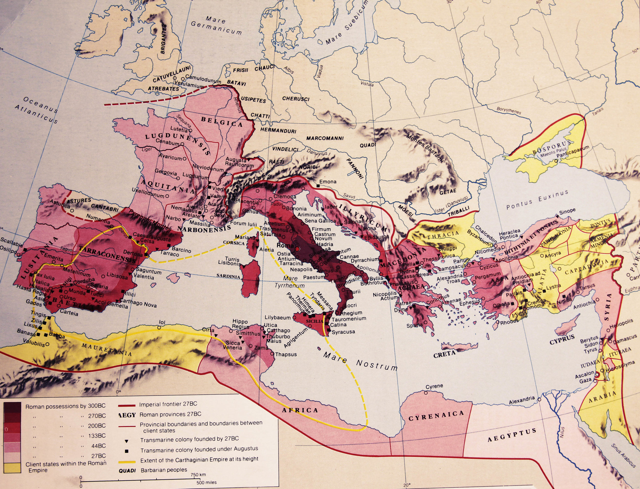The Growth of the Roman Empire. Source:  R.I. Moore (1981) Hamlyn Historical Atlas.