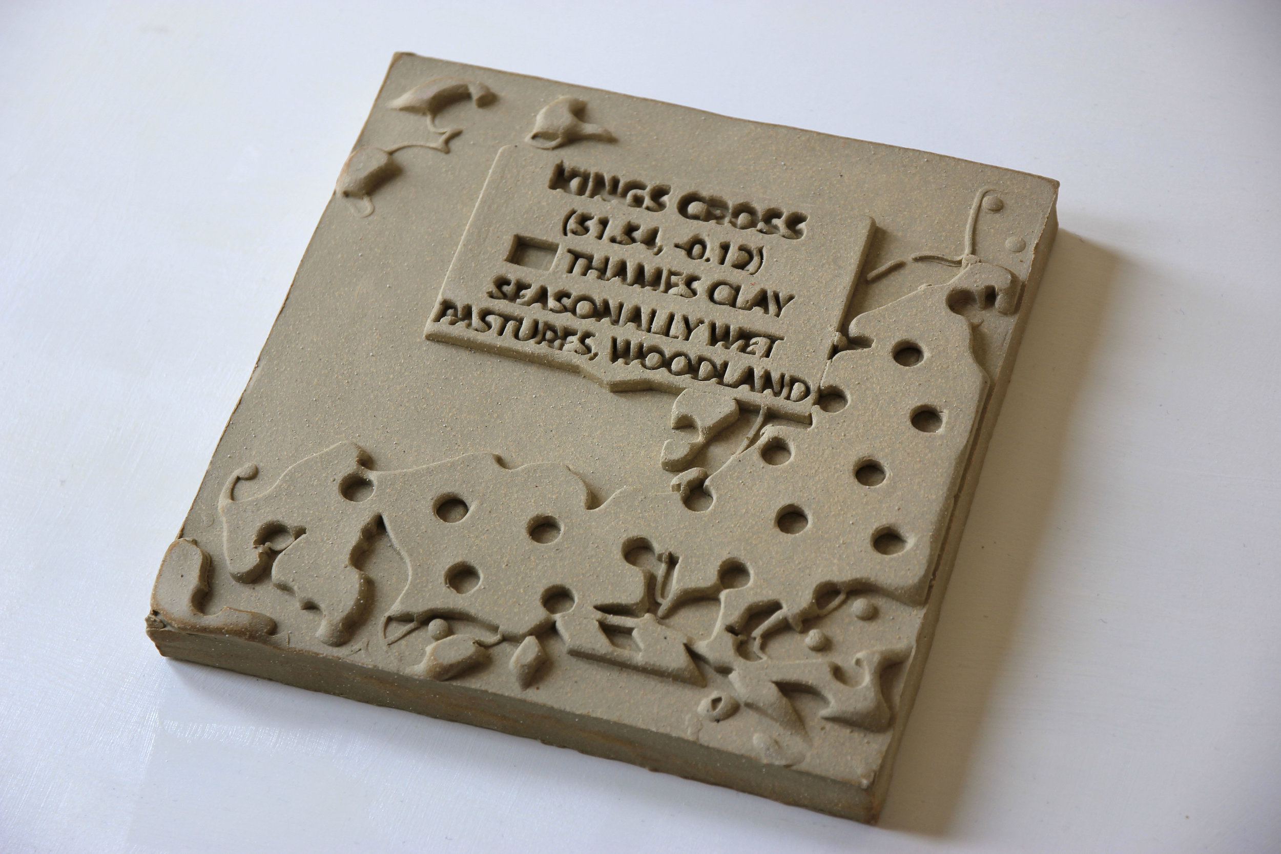 A digitally fabricated clay tablet - the modern take on a Babylonian classic.