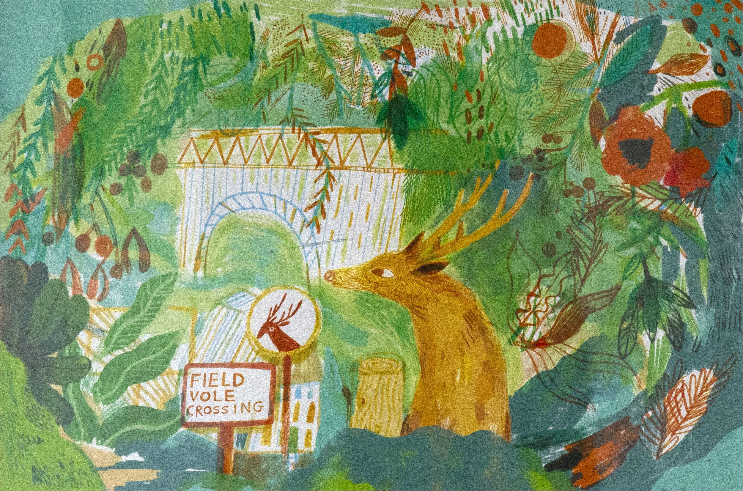 A Green Corridor (2019) , Liv Bargman, Giclée Print edition of 10, 40 x 26cm, £110 unframed, £150 framed