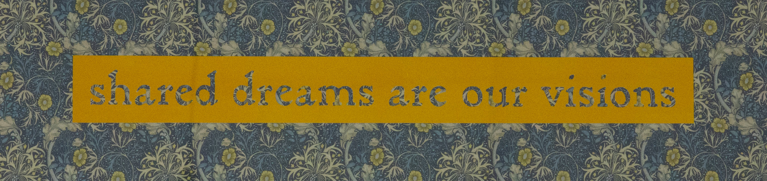 Shared Dreams are our Visions (2019) , Cat Drew, Stencil cut printed paper, 15 x 50cm, £50 unframed £90 framed