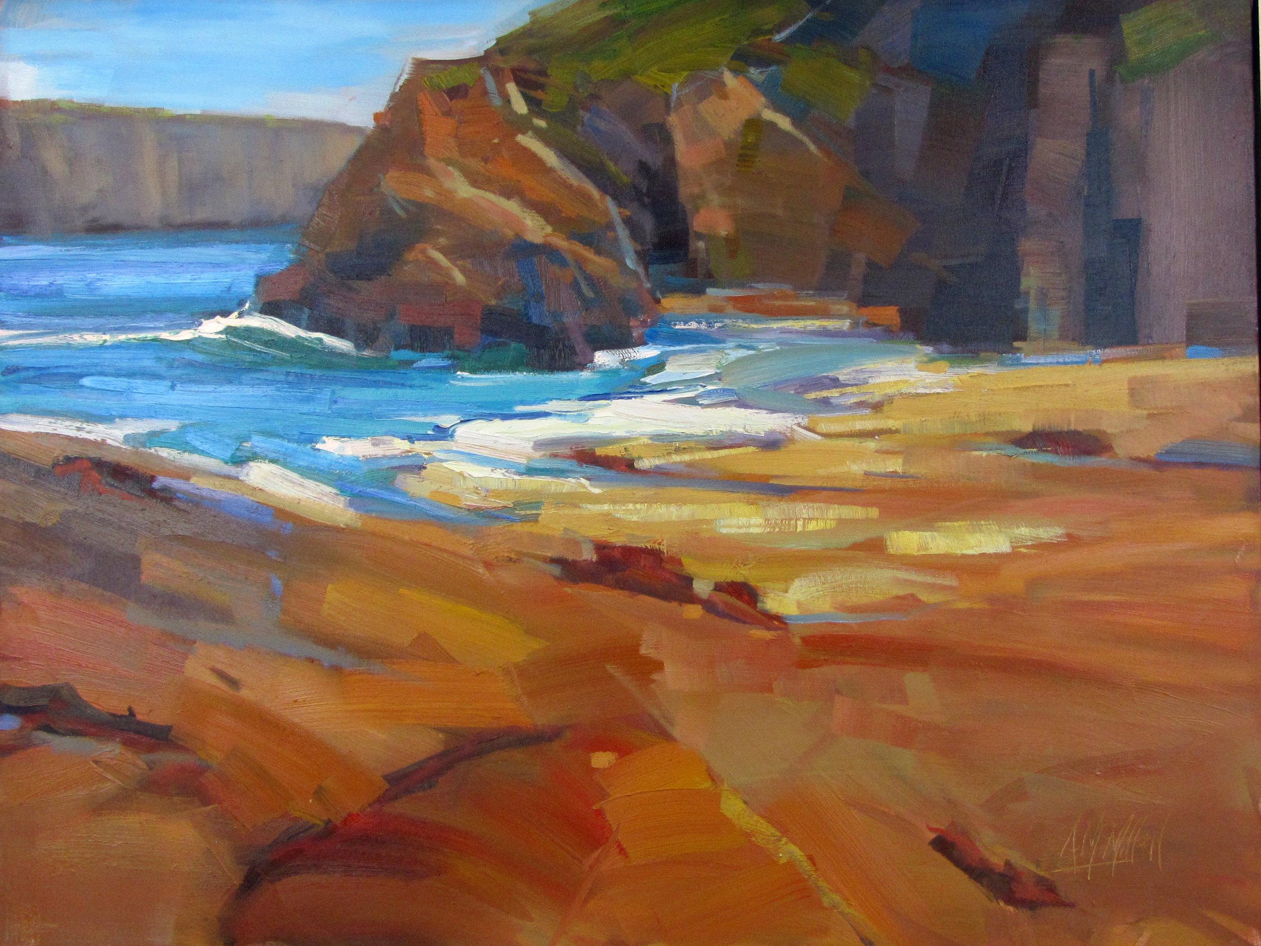 McMillan Jughandle Beach 20 x 30 inches oil.jpg