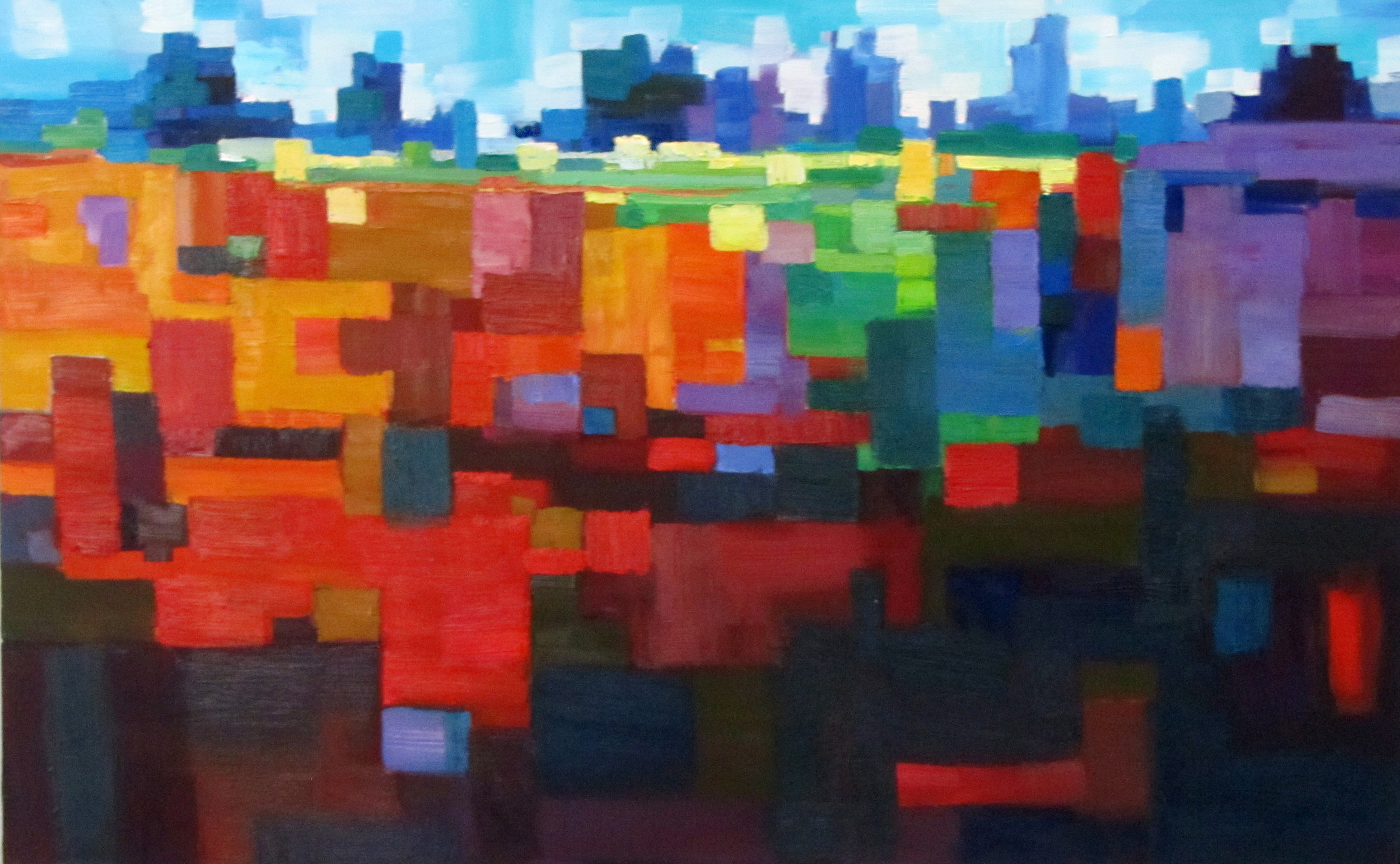 Mcmillan City Abstract 30 x 48