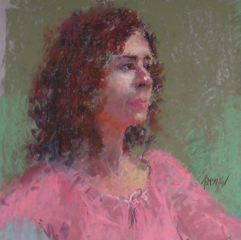Soft pastel portrait done a few years back-- there is nothing nicer than painting humans